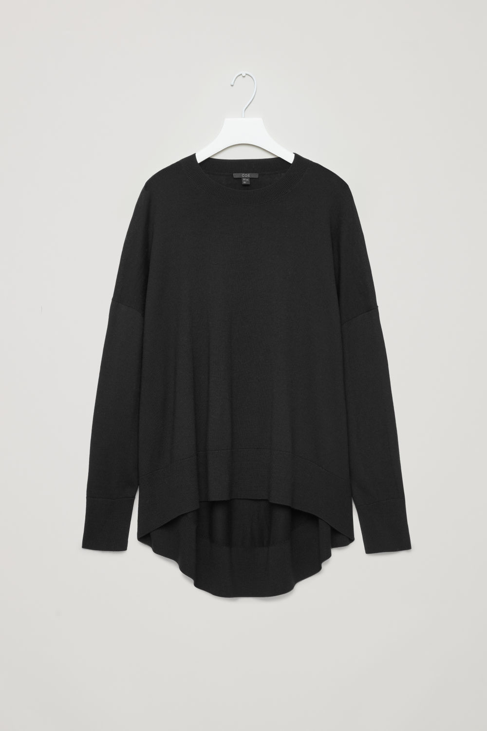 DRAPED FINE-KNIT WOOL JUMPER