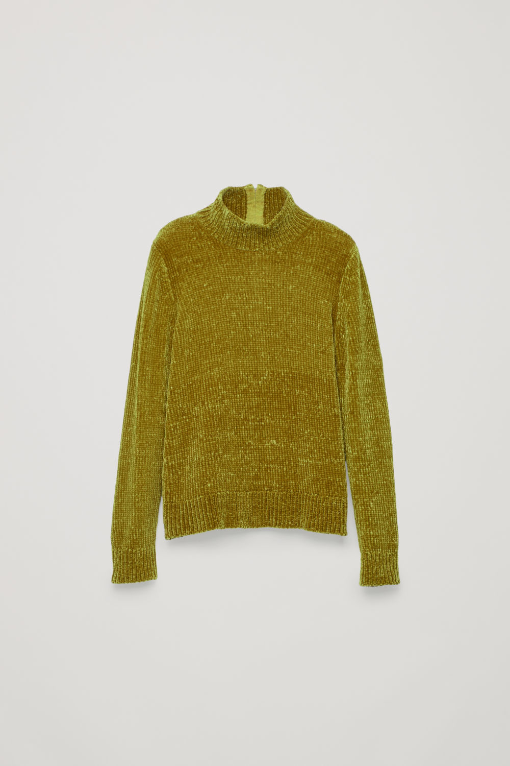 CHENILLE JUMPER WITH ZIP