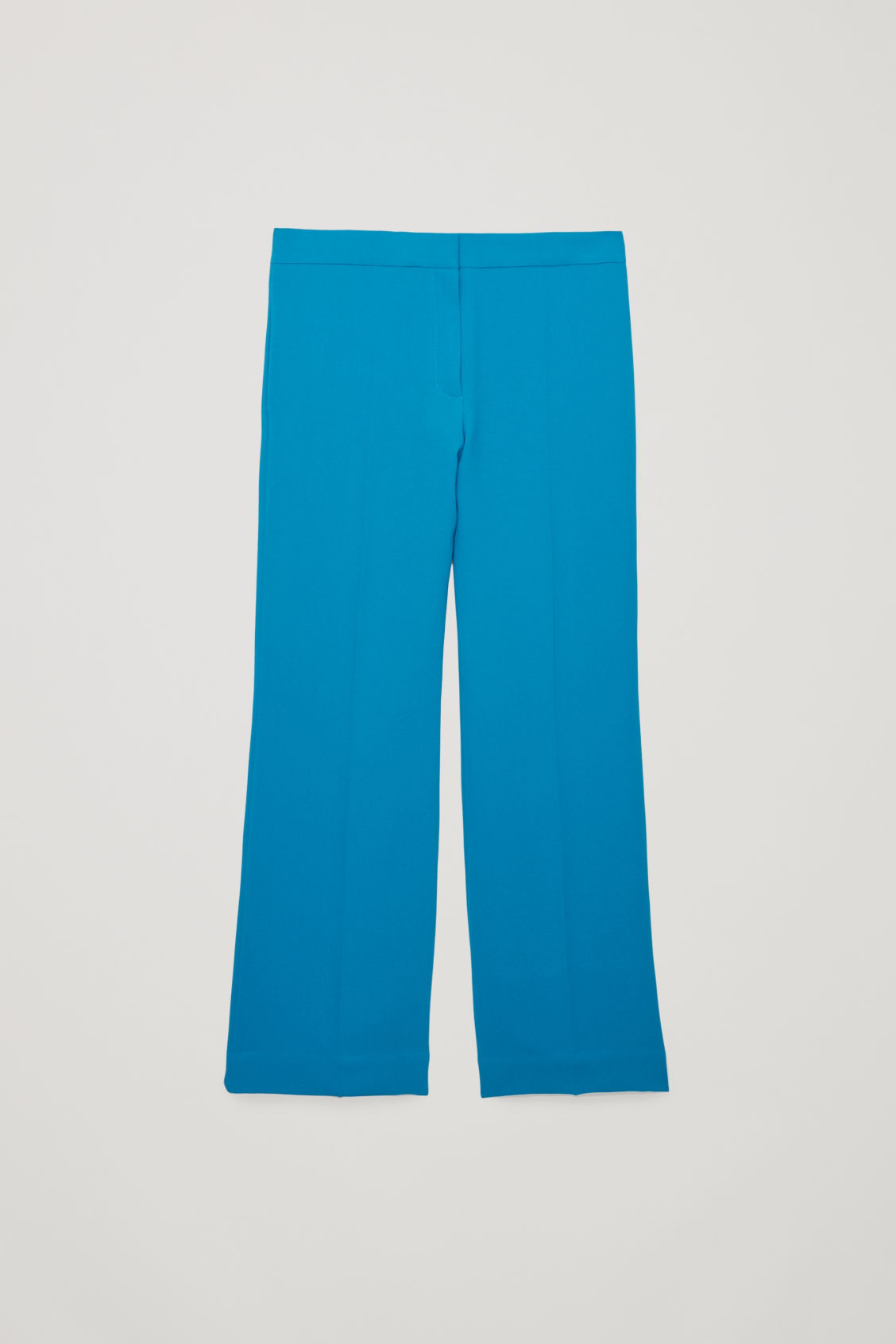 Front image of Cos a-line tailored trousers in turquoise