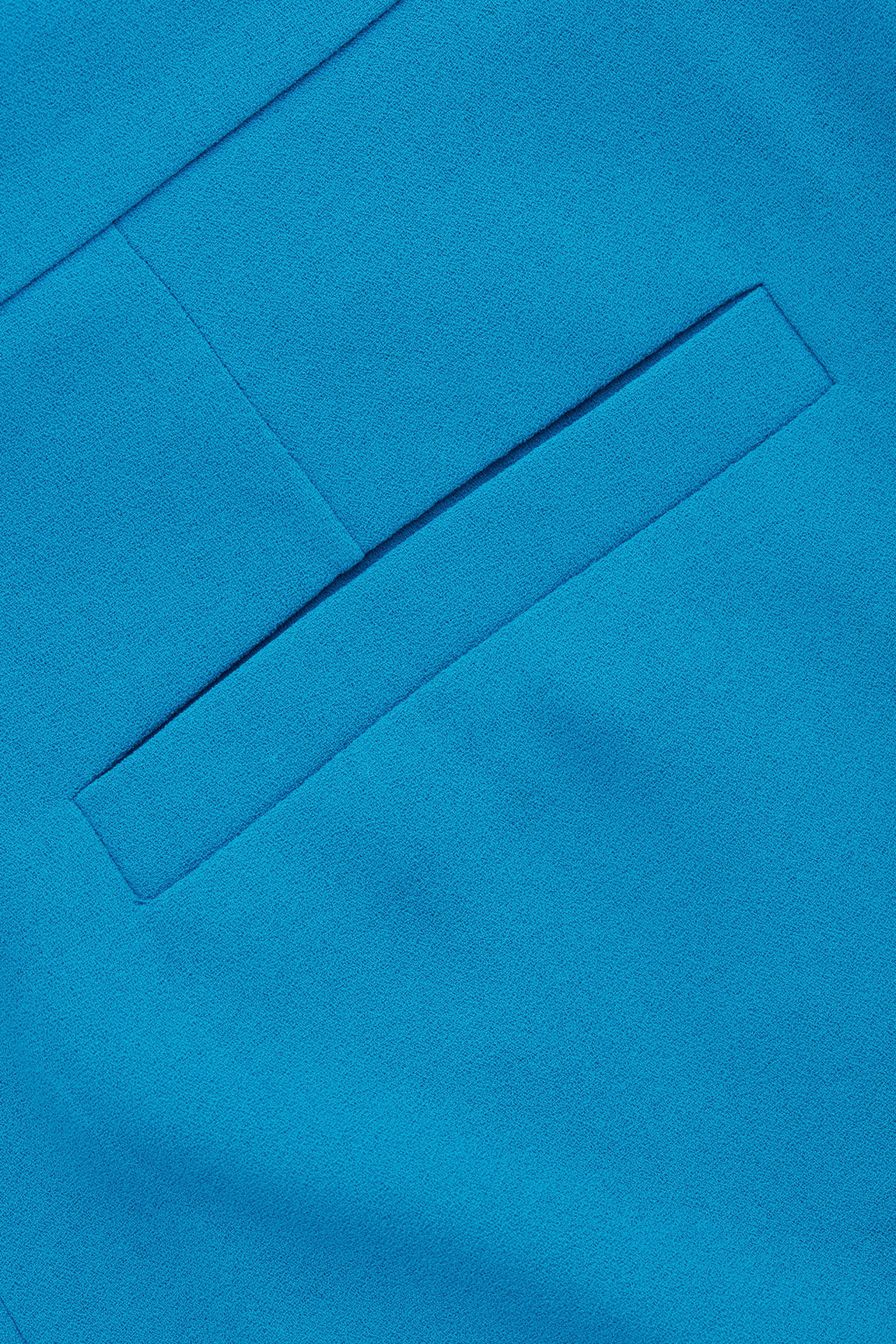 Side image of Cos a-line tailored trousers in turquoise