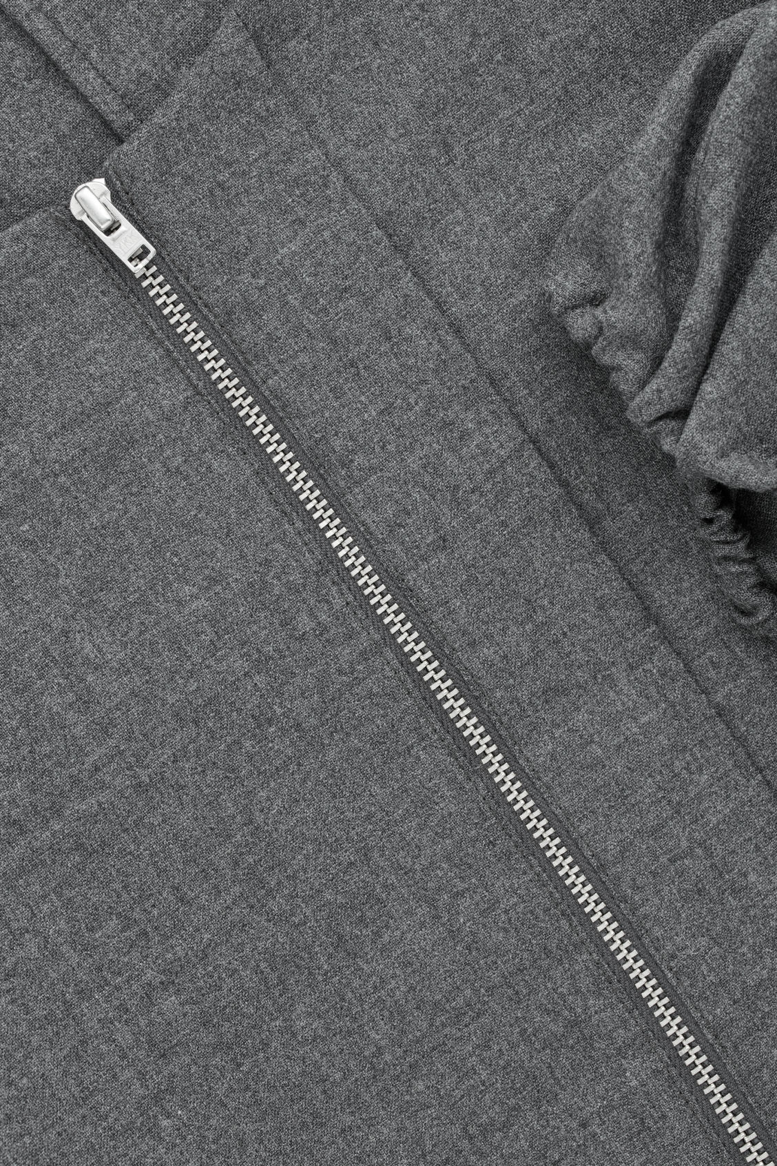 Side image of Cos zip-front wool blouse  in grey