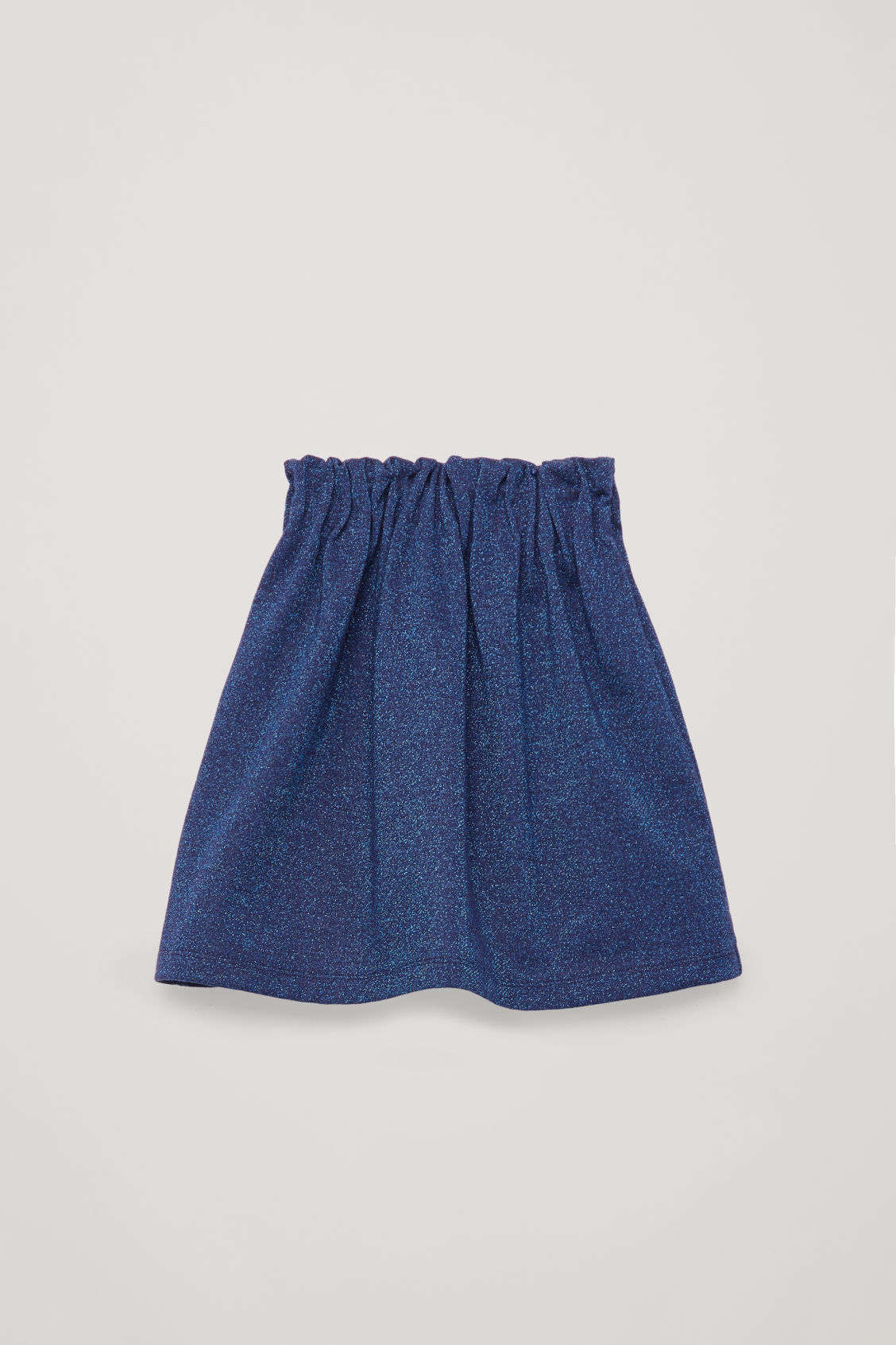 Side image of Cos glitter a-line skirt in blue