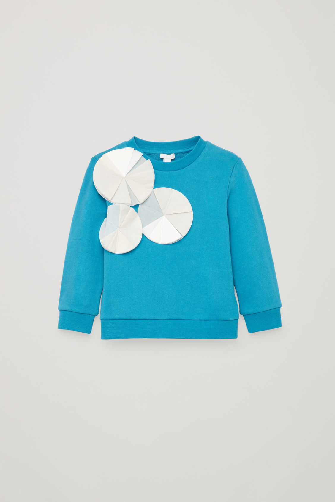 Front image of Cos cotton sweatshirt with applique in blue