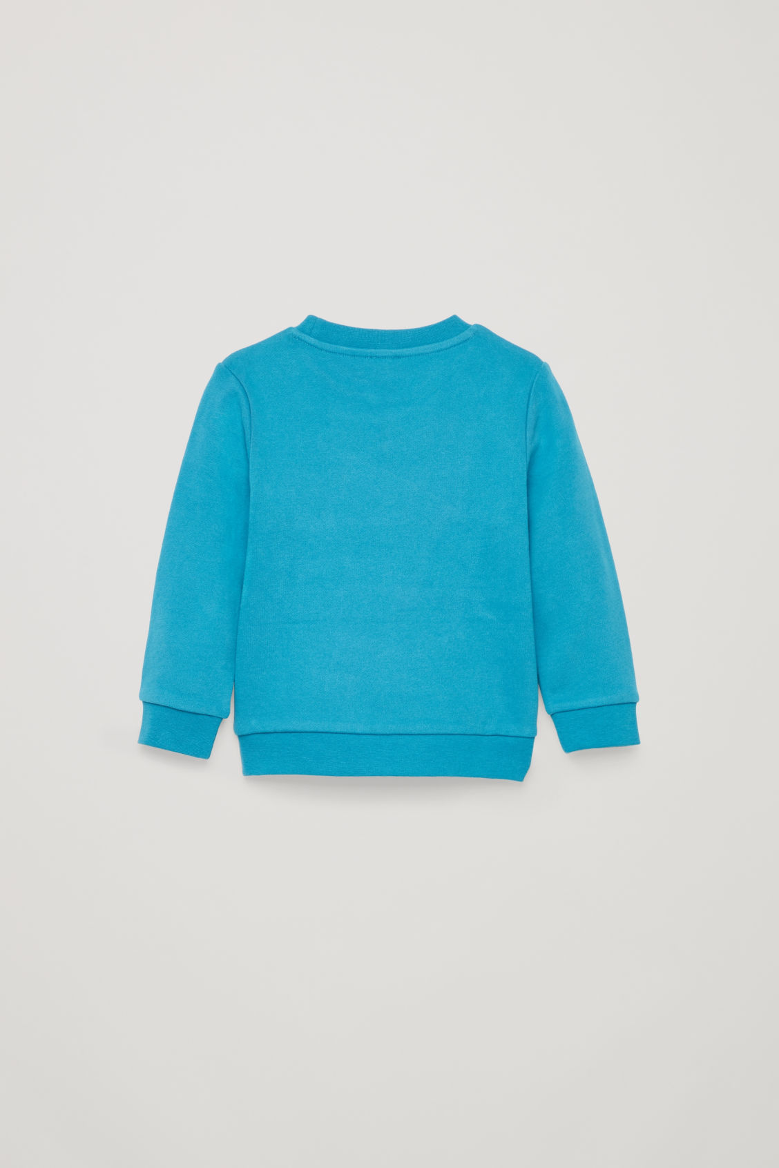 Side image of Cos cotton sweatshirt with applique in blue