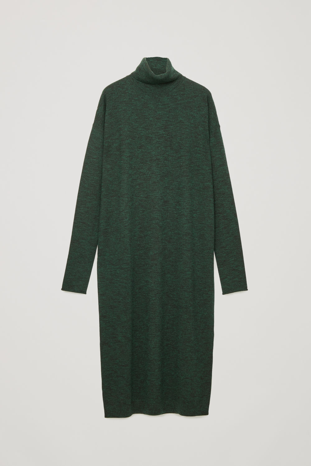 ROLL-NECK WOOL DRESS