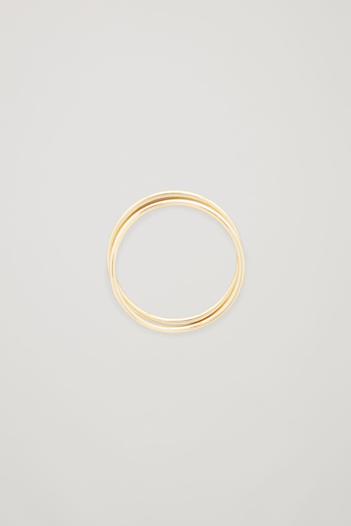 Front image of Cos gold-plated stacking rings in gold