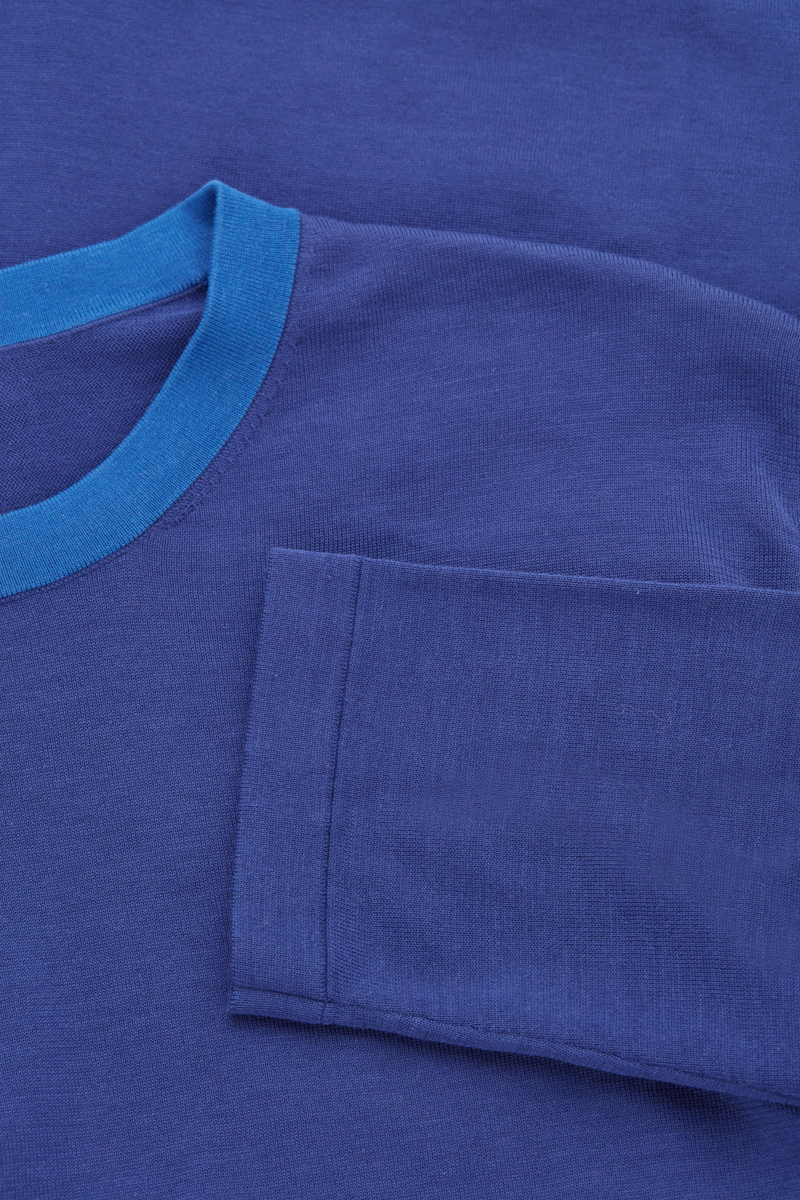 Side image of Cos knitted colour-block top in blue