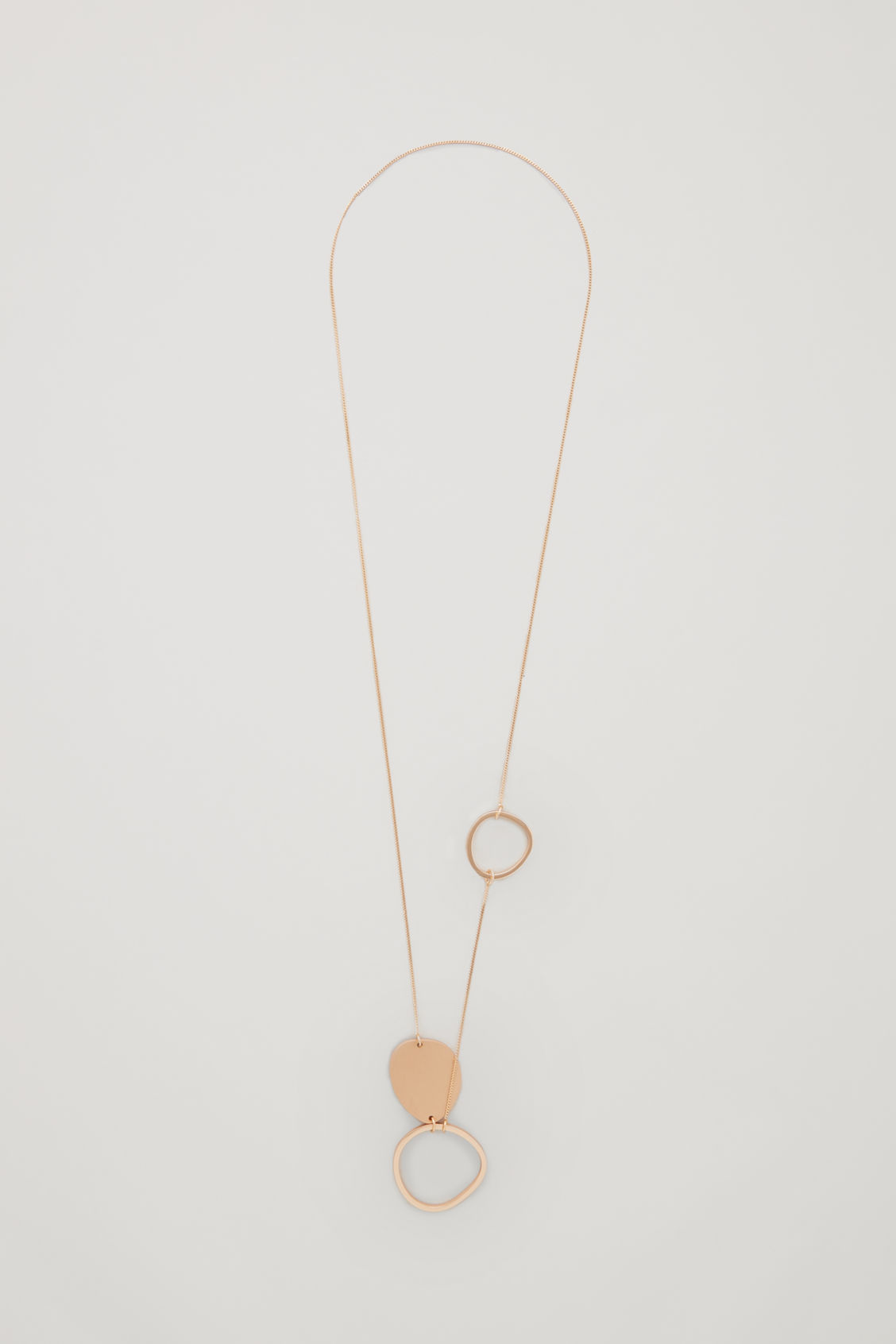 Front image of Cos mix-shape fine necklace in gold