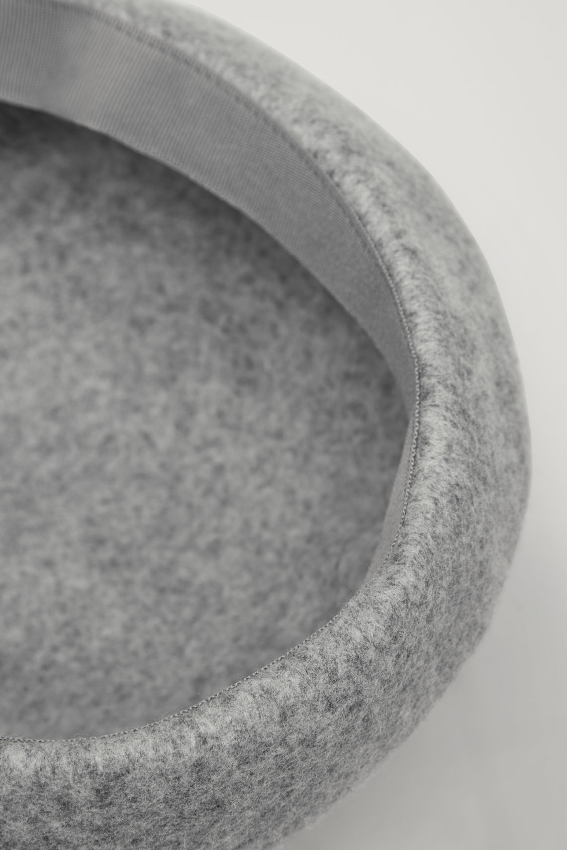 Side image of Cos felt-wool beret in grey
