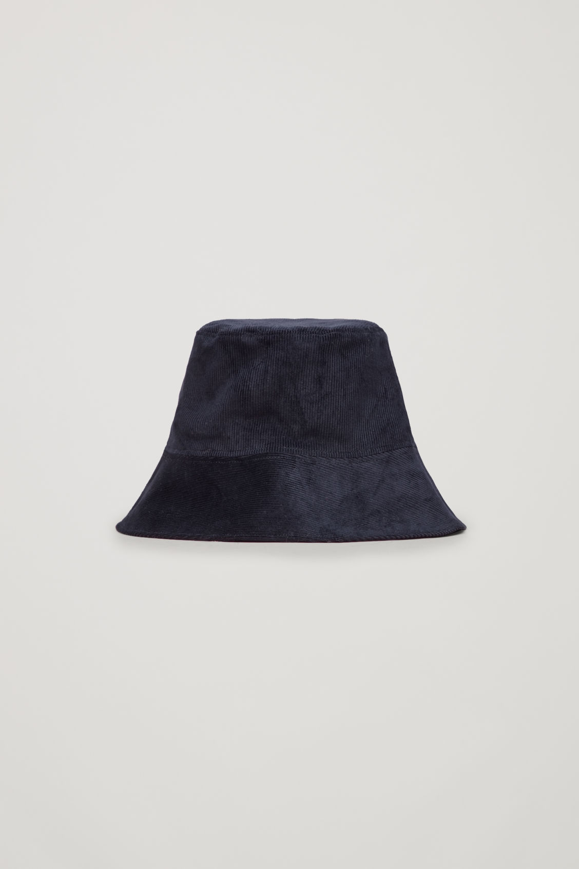 Front image of Cos corduroy bucket hat in blue