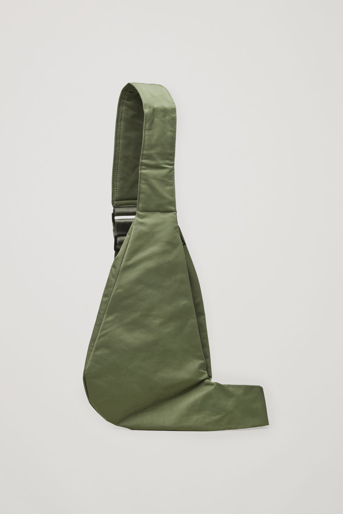 Front image of Cos one-shoulder nylon bag  in green