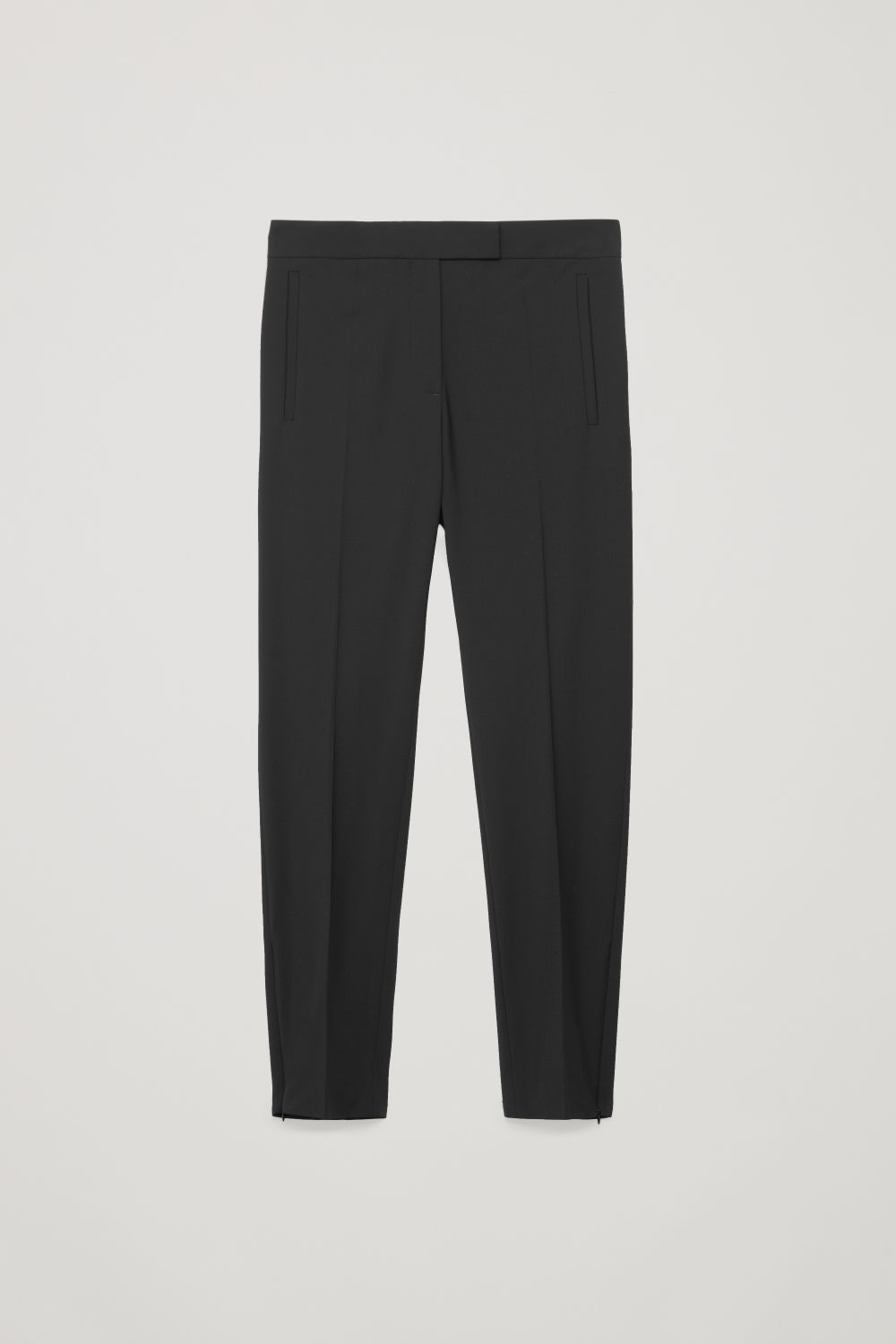 SLIM TAILORED TROUSERS WITH ZIPS