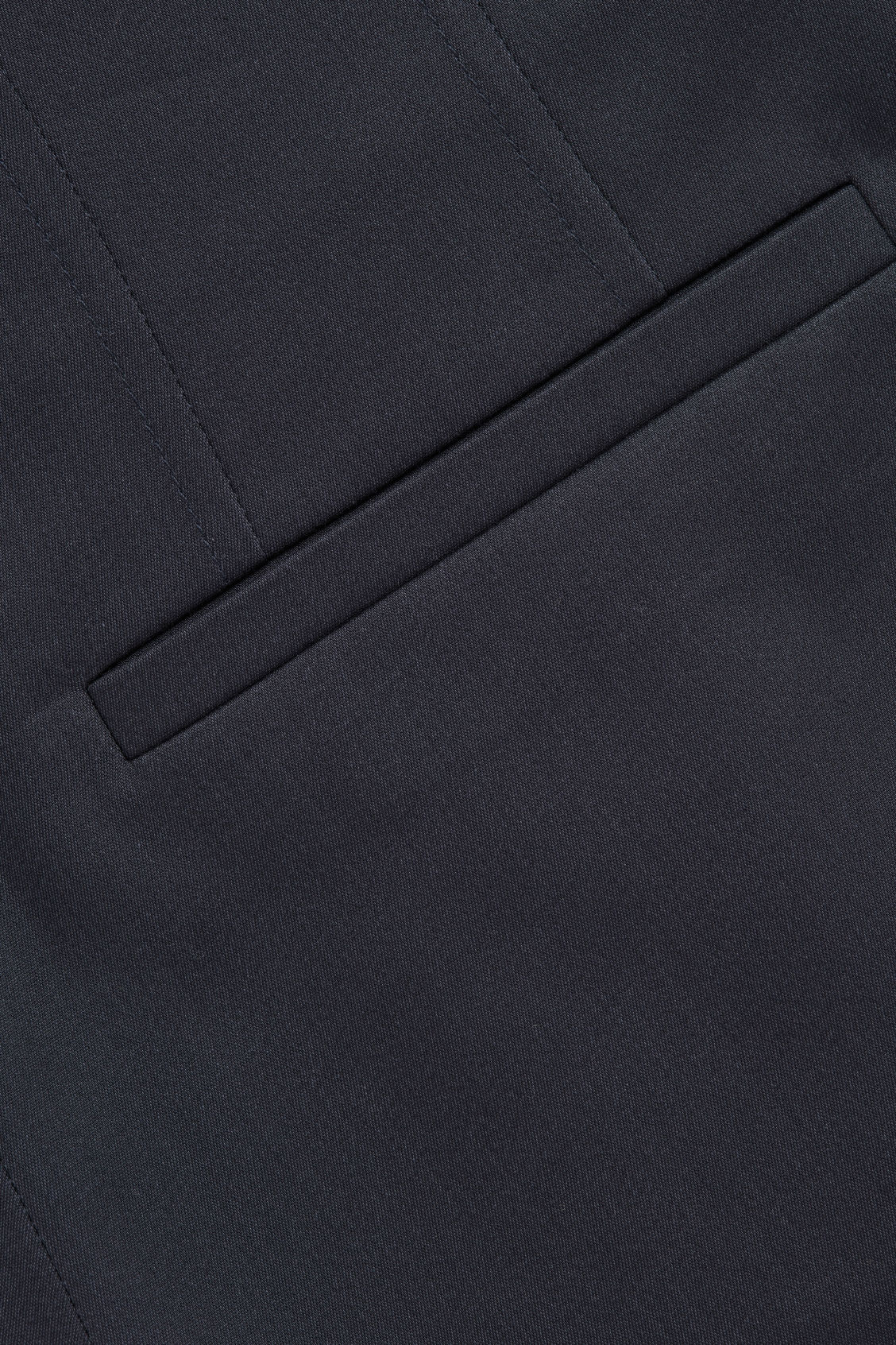 Side image of Cos stretch-cotton pleated trousers in blue