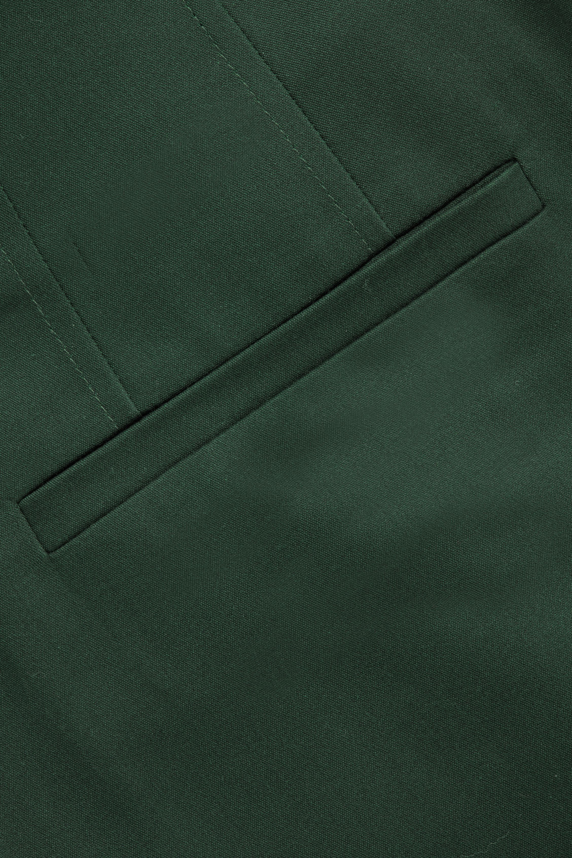 Side image of Cos crop cotton pleated trousers in green