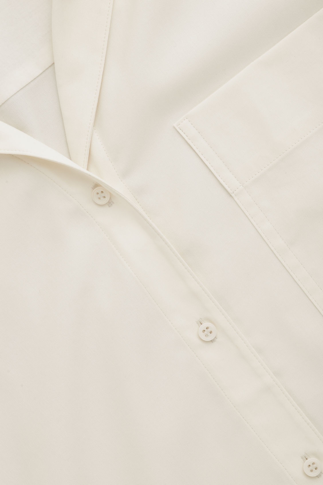 Side image of Cos silk pyjama shirt  in neutral