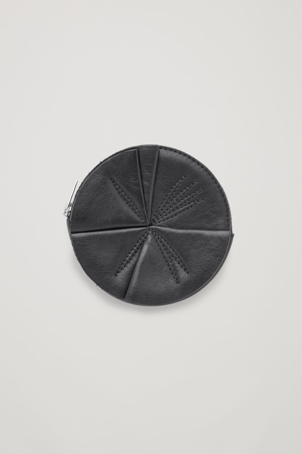 CIRCLE LEATHER COIN PURSE