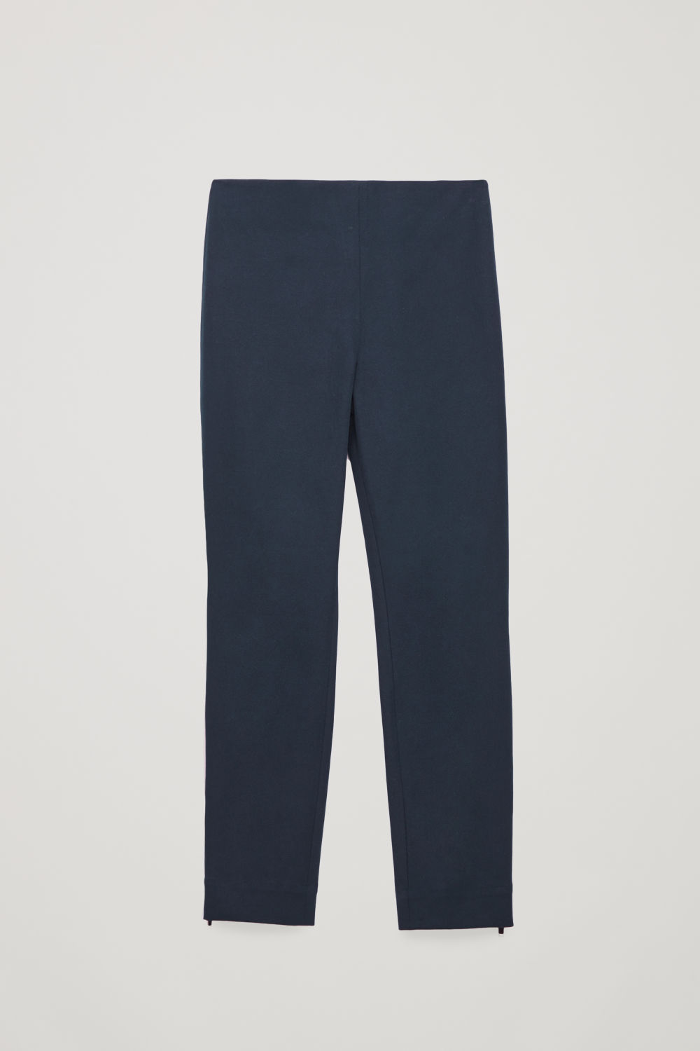 Front image of Cos skinny legging trousers in blue