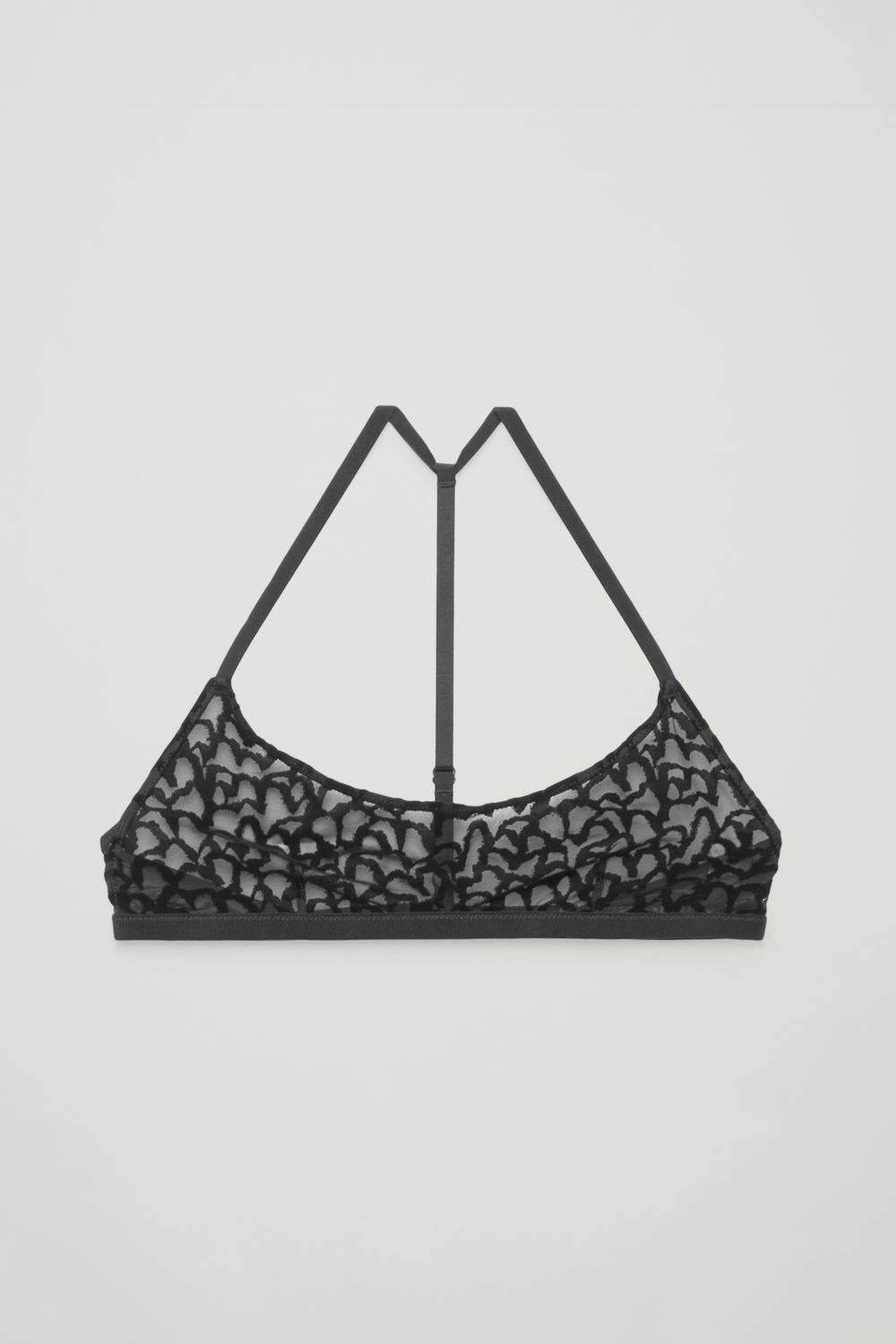 FLOCKED-MESH SOFT BRA