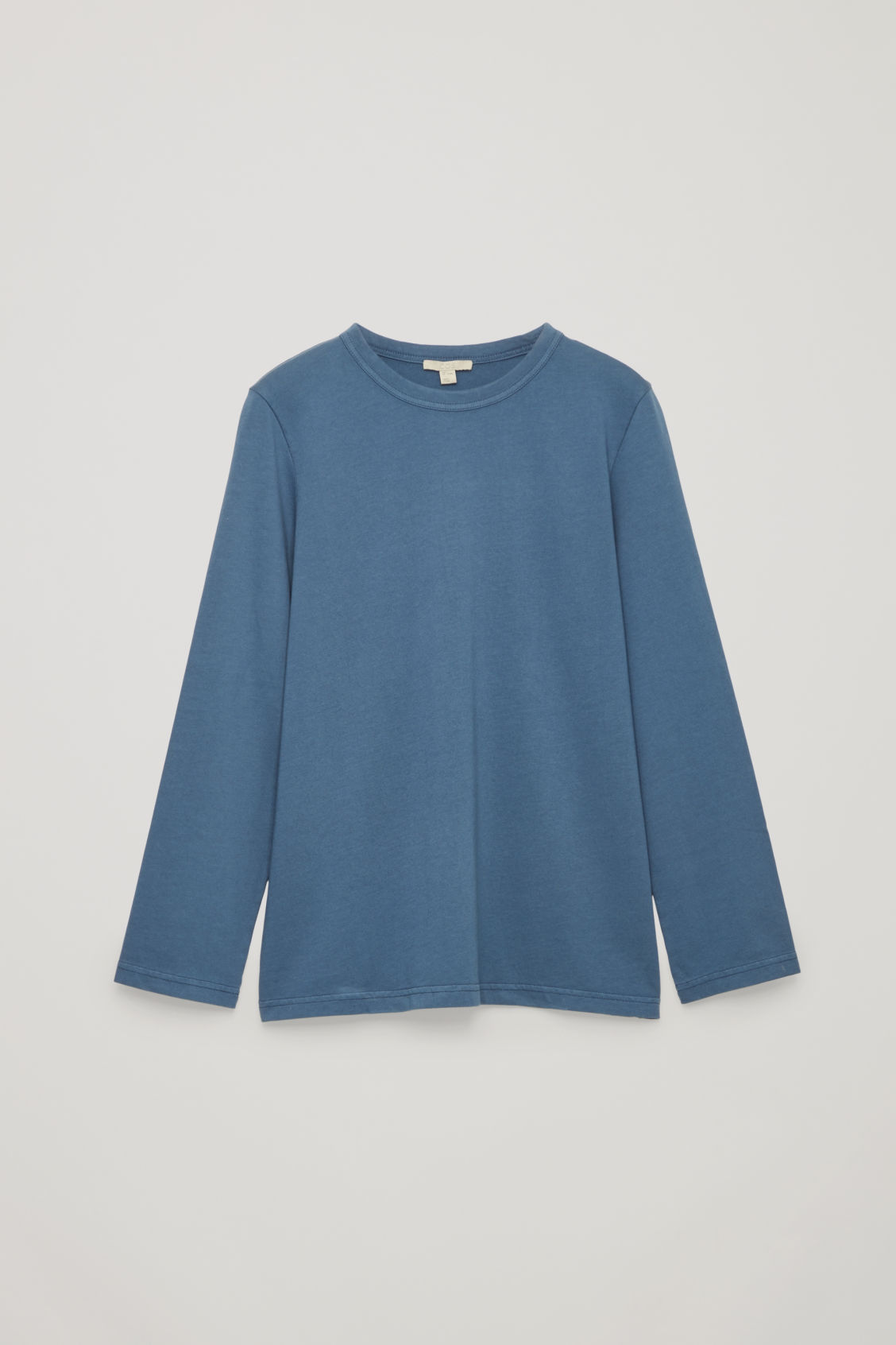 Front image of Cos loose long-sleeved t-shirt in blue