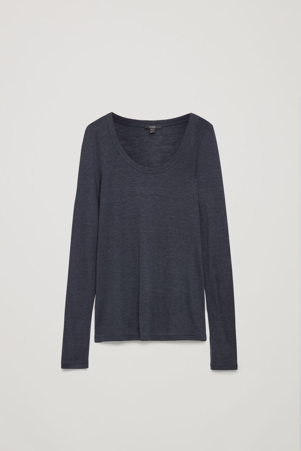 SILK-LINEN LONG-SLEEVED TOP