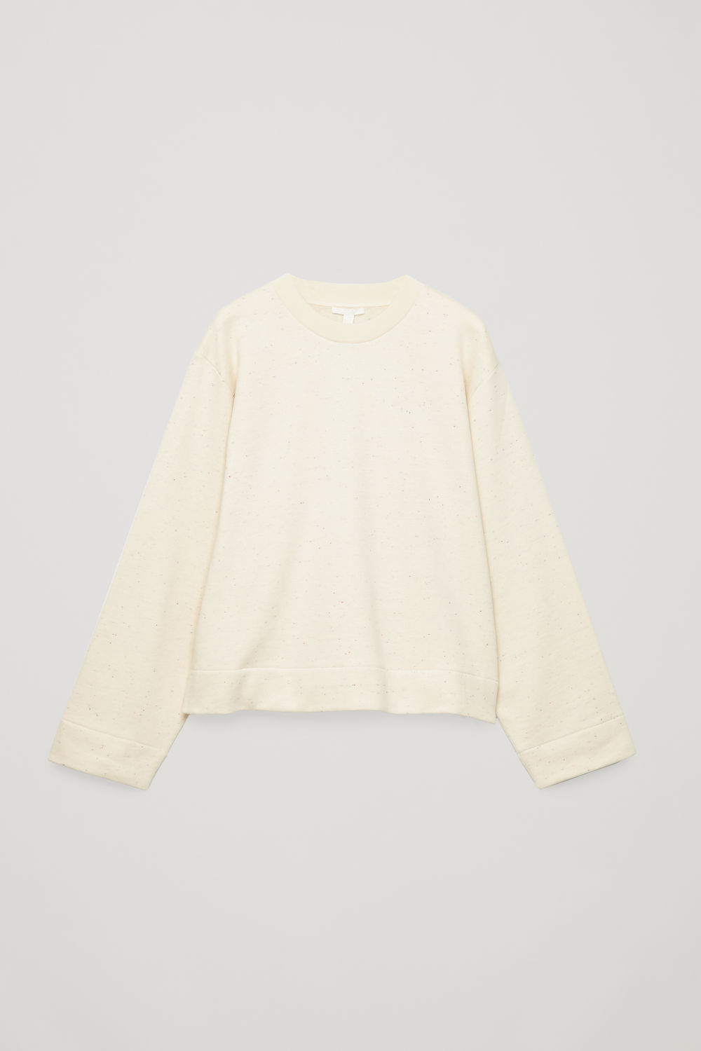 SPECKLED JERSEY SWEATSHIRT