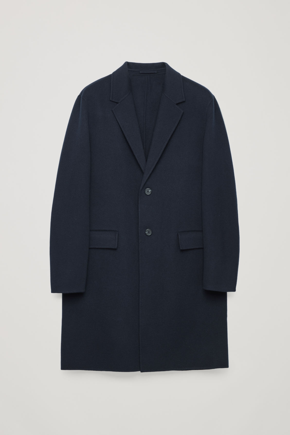 Front image of Cos deconstructed wool coat  in blue