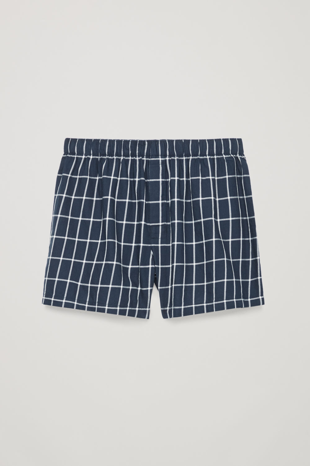 CHECKED COTTON BOXER SHORTS