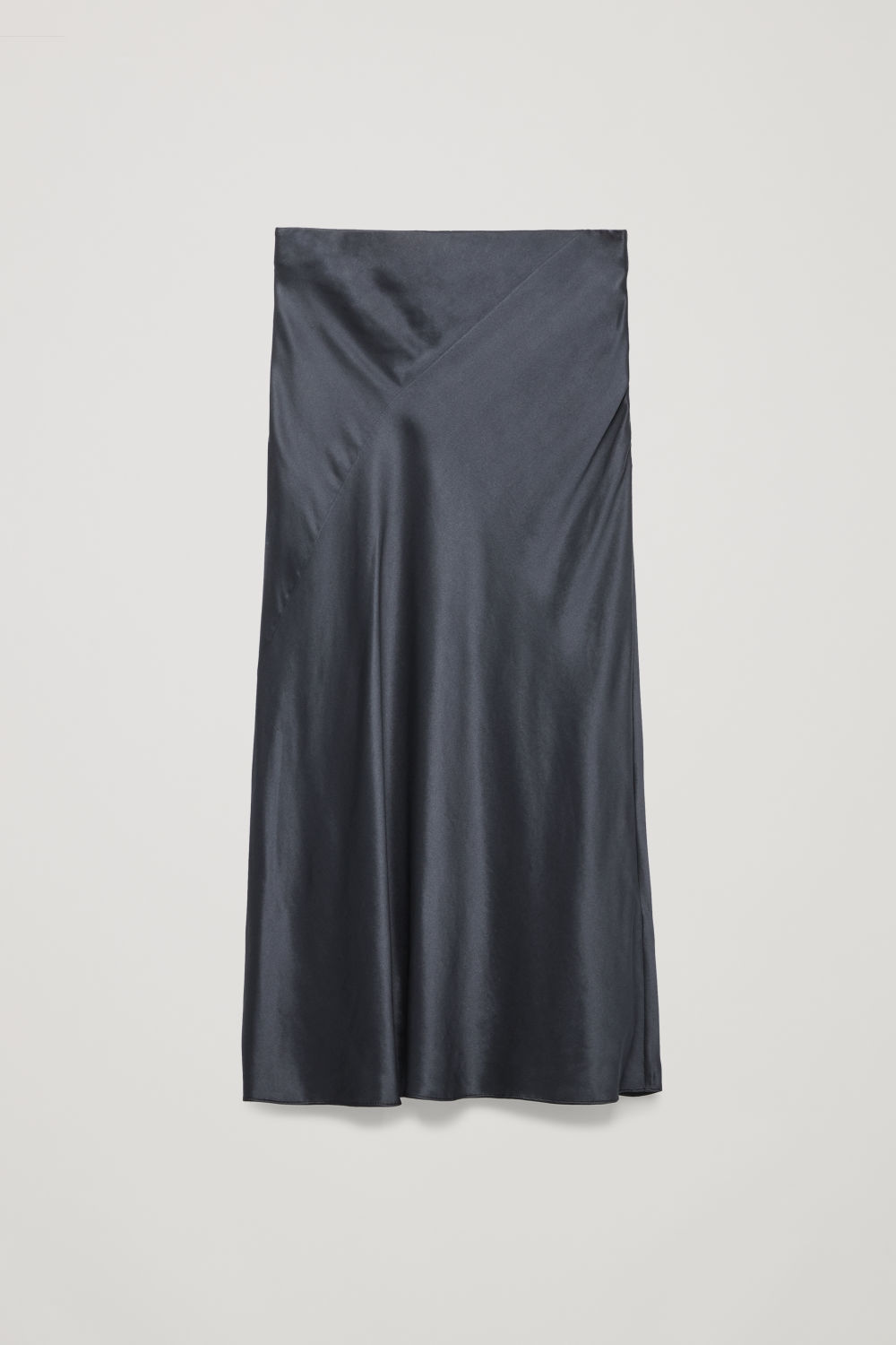 BIAS-CUT SILK MID-LENGTH SKIRT