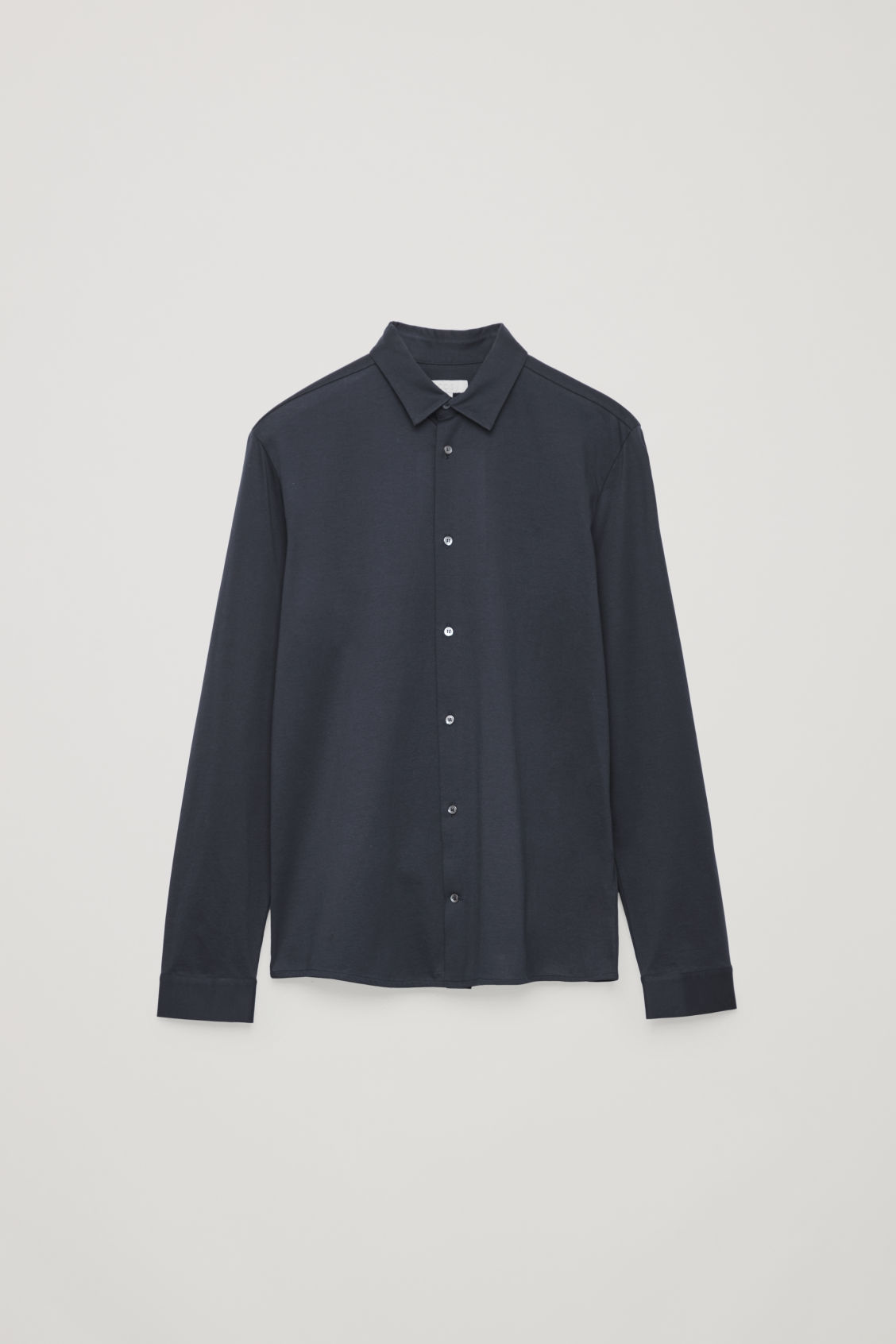 Front image of Cos long-sleeved jersey shirt in blue