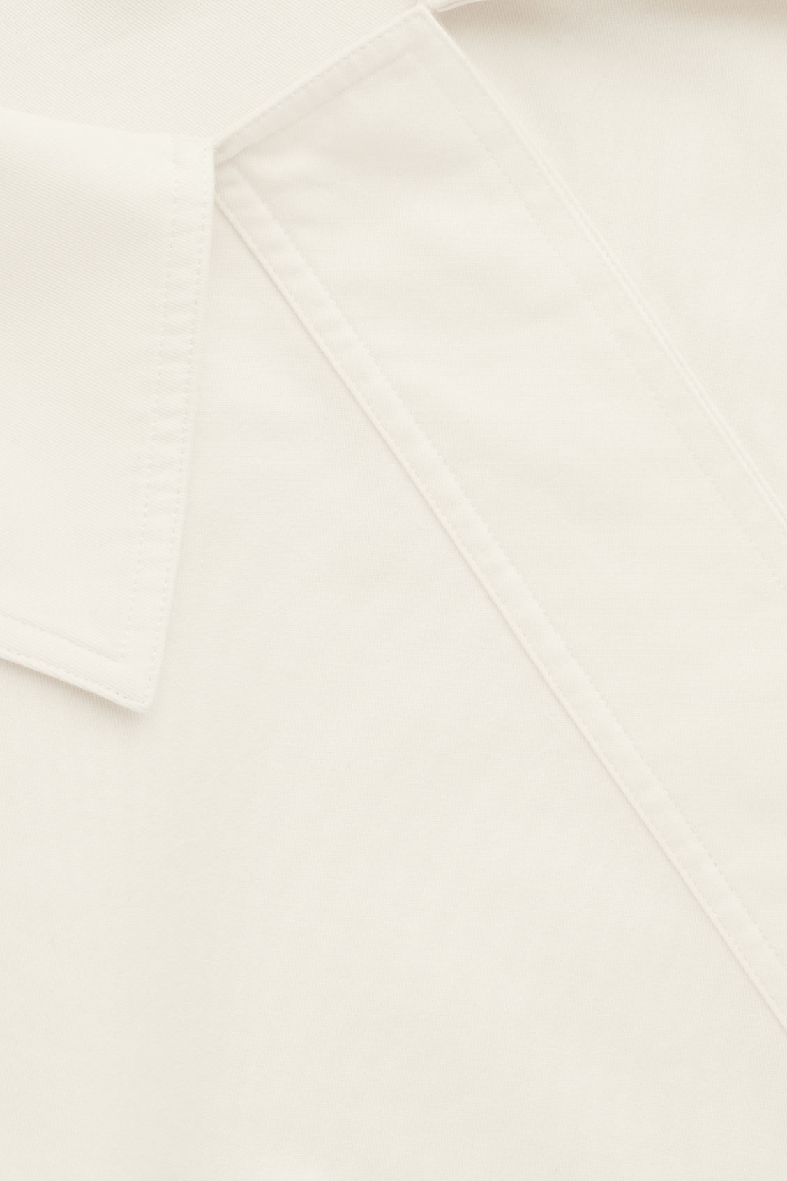 Side image of Cos oversized-collar cotton top in white