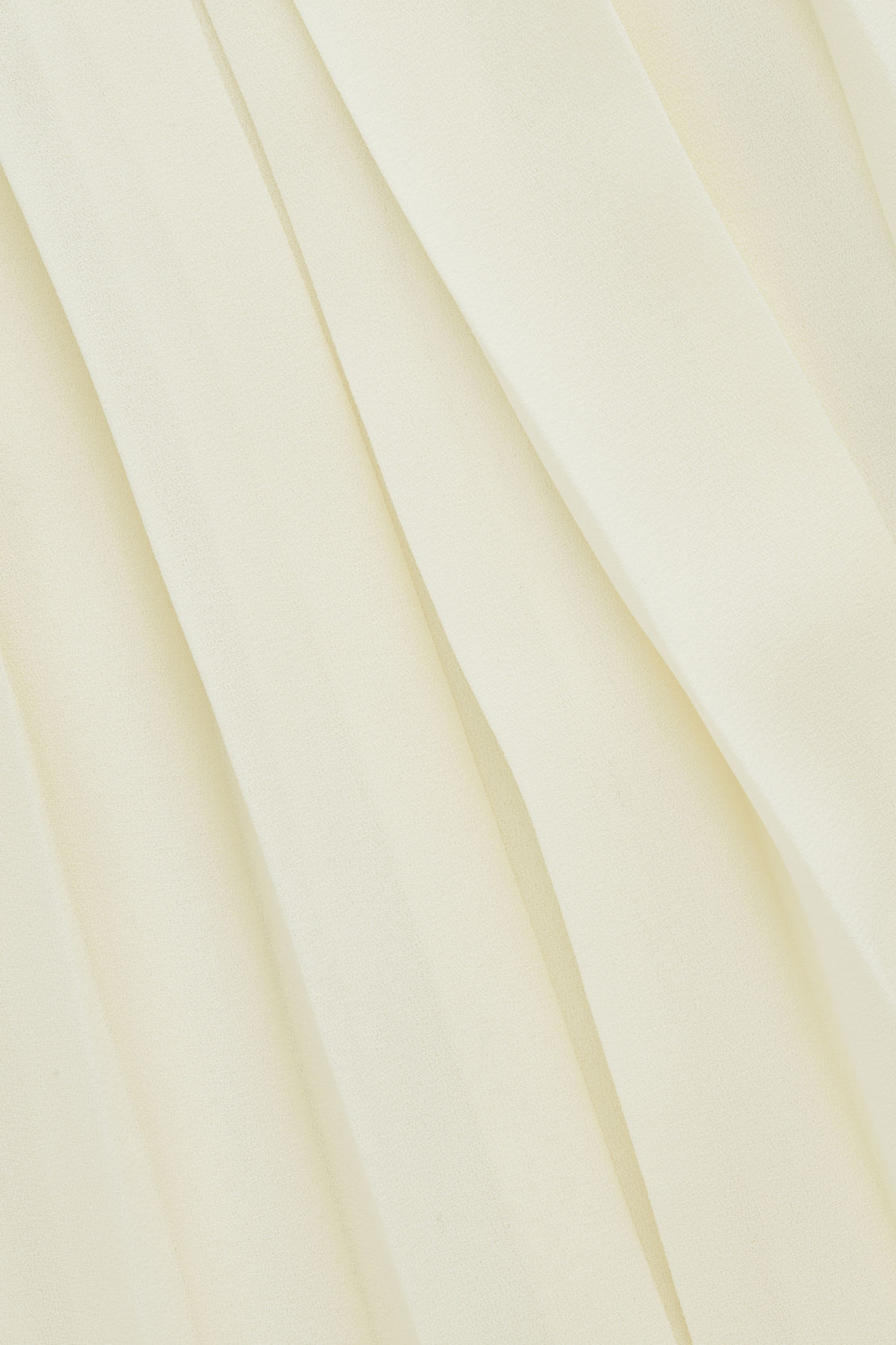 Side image of Cos asymmetric pleated wrap skirt in white
