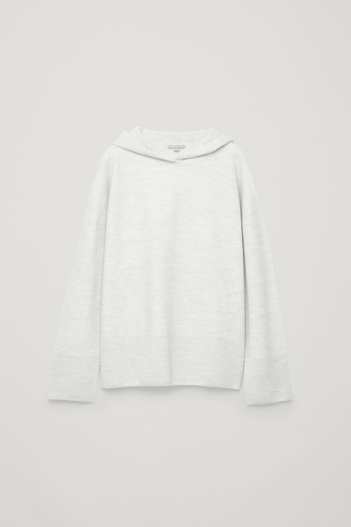 Front image of Cos oversized wool-knit hoodie in grey