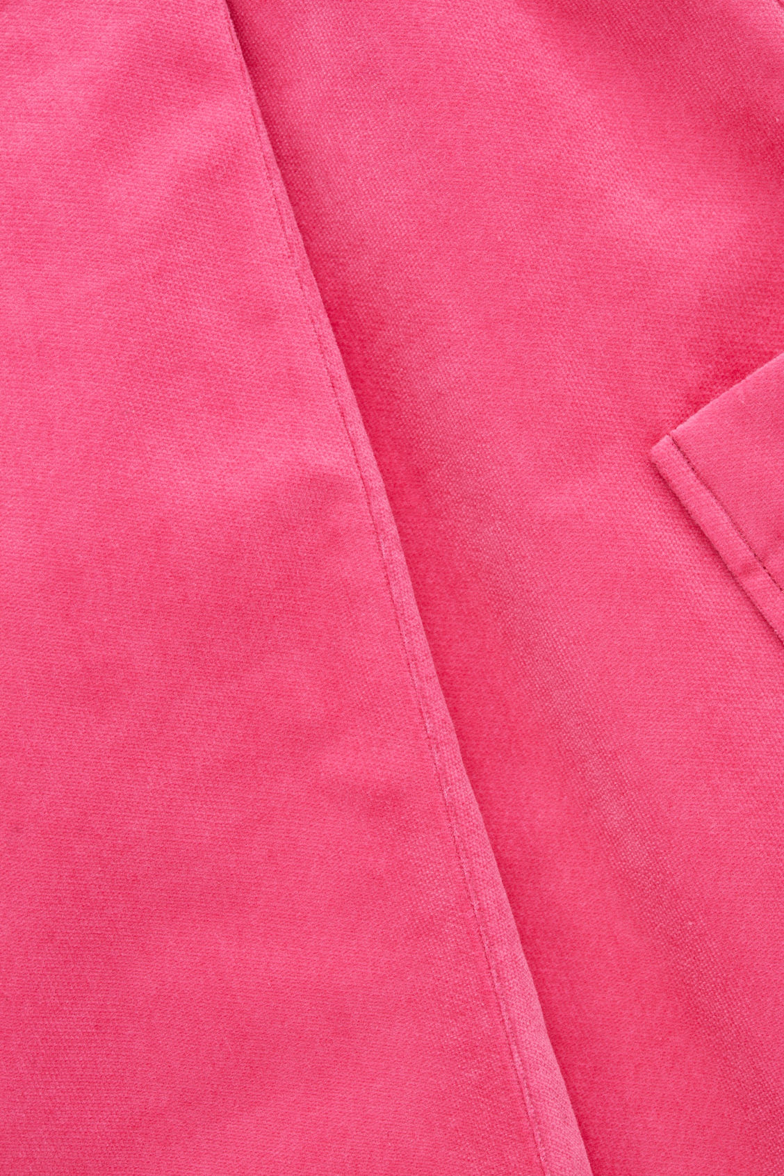 Side image of Cos velvet dress with pleat in pink