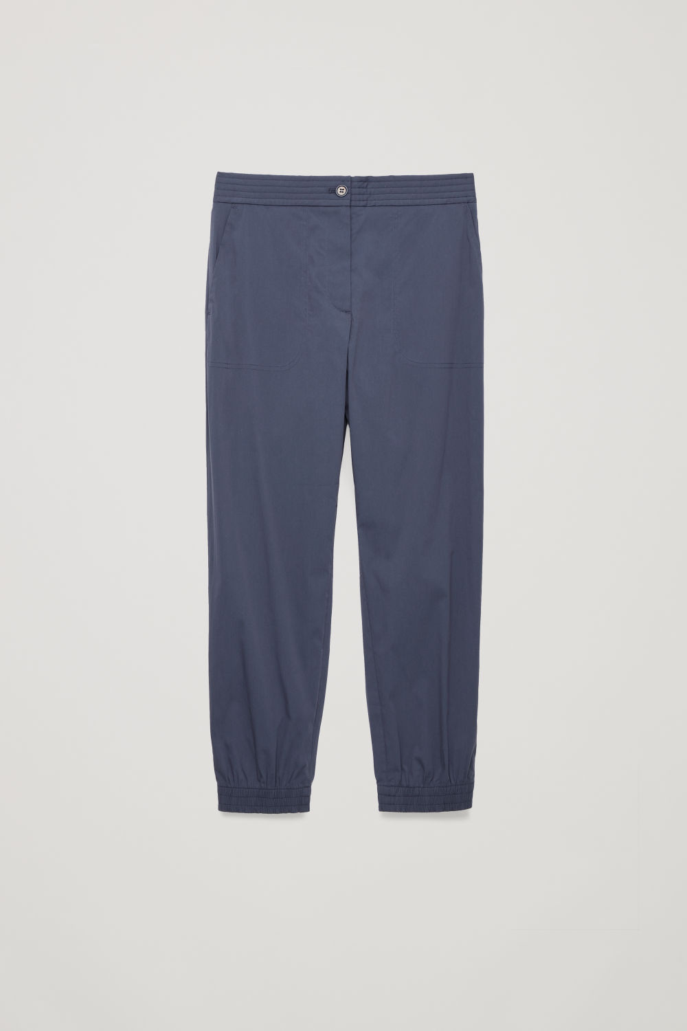 PADDED-WAIST COTTON TROUSERS