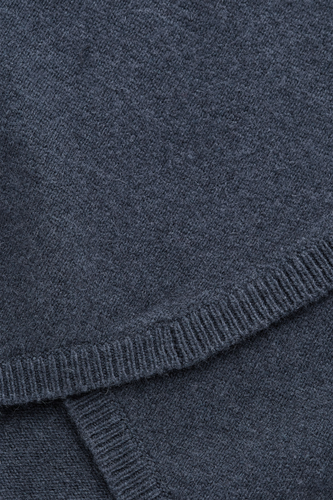 Side image of Cos wrap-over lambswool jumper in blue