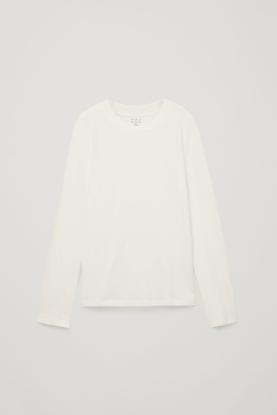 Front image of Cos jersey long-sleeved top  in beige