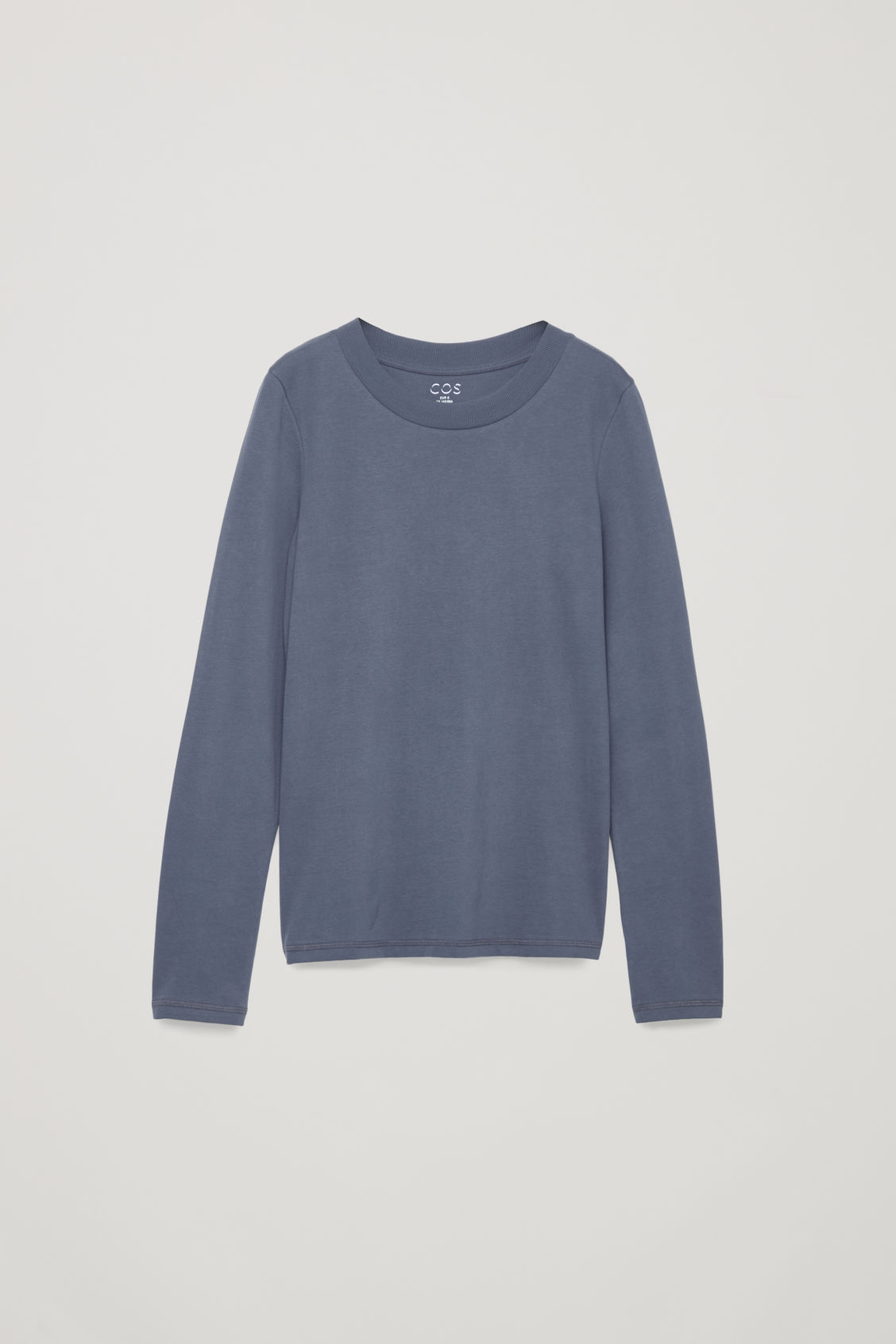 Front image of Cos jersey long-sleeved top  in blue