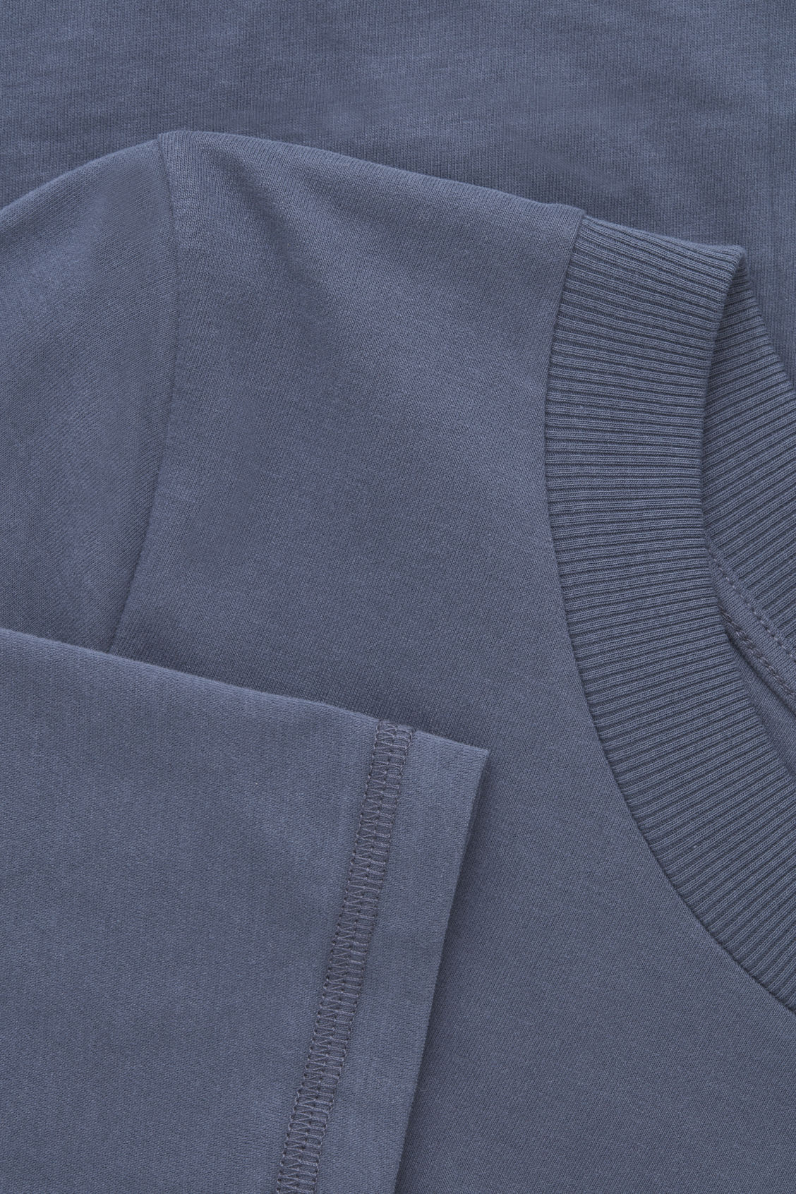 Side image of Cos jersey long-sleeved top  in blue