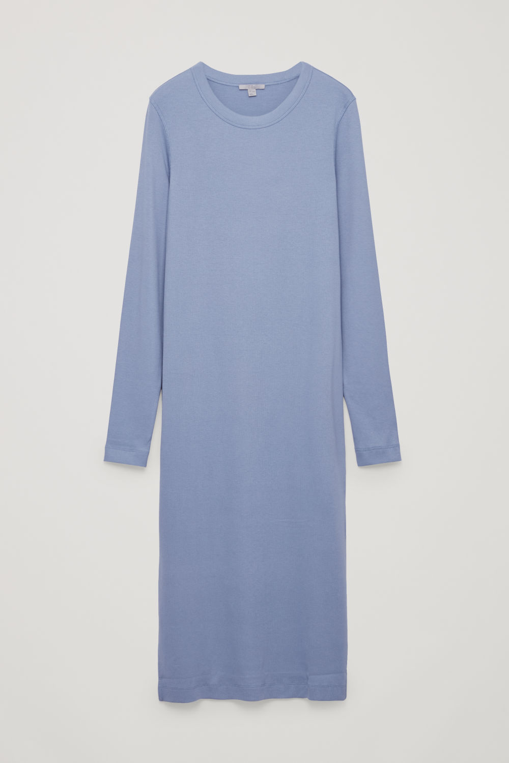 RIBBED STRETCH-COTTON JERSEY DRESS