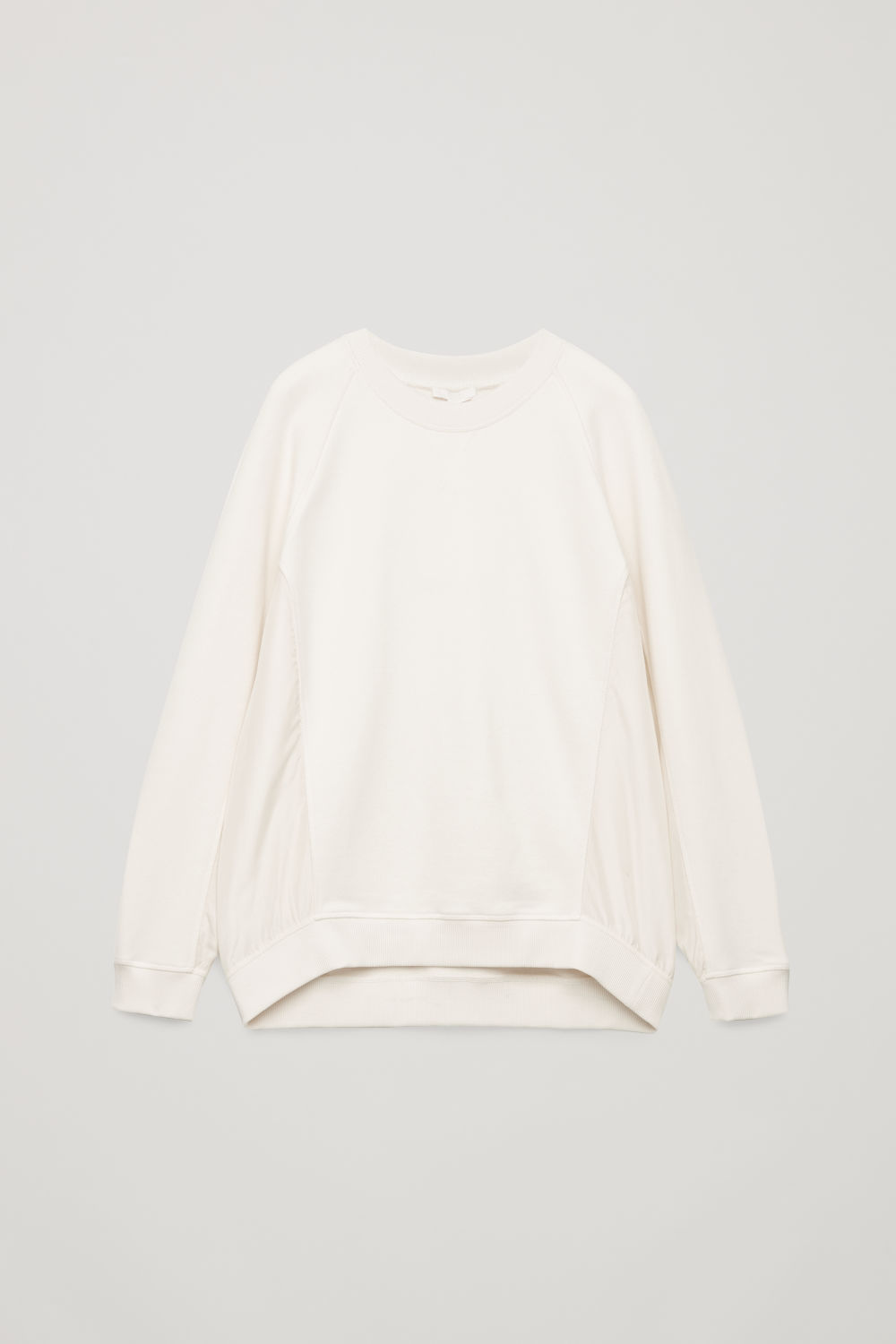 SILK-DETAIL COTTON SWEATSHIRT