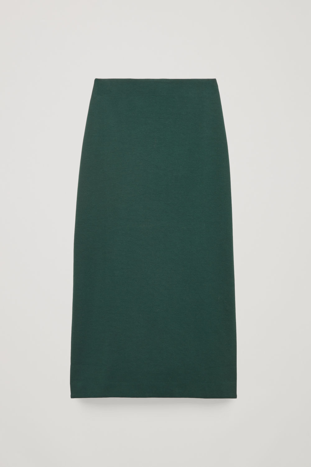 Front image of Cos pull-on jersey pencil skirt  in green