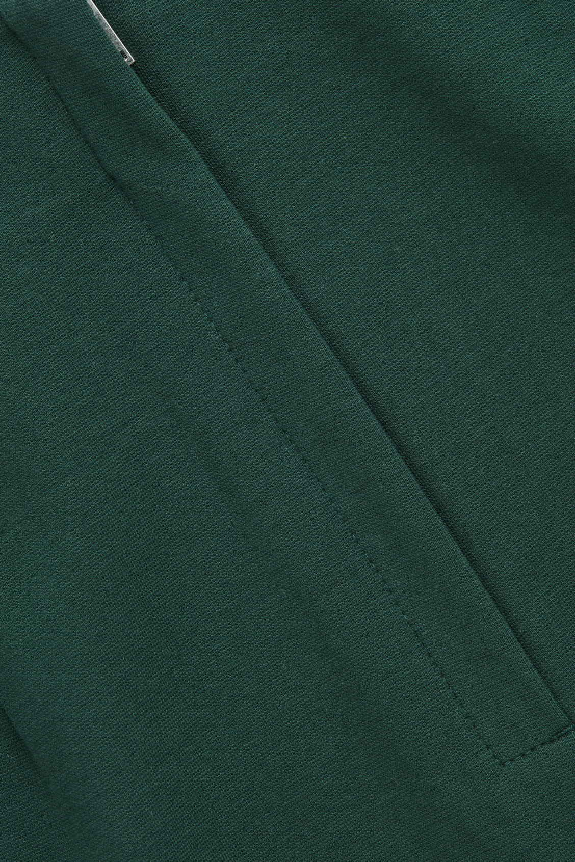 Side image of Cos pull-on jersey pencil skirt  in green
