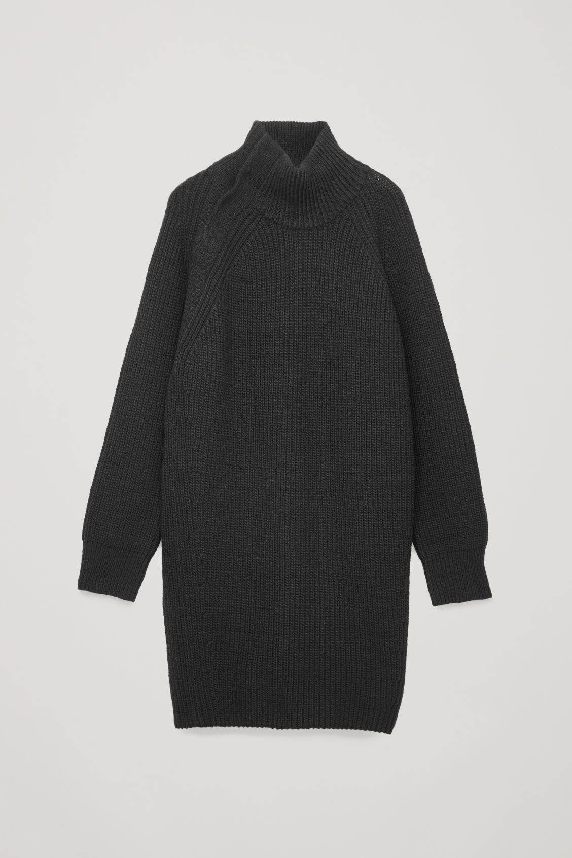 Front image of Cos oversized wool-knit dress in blue