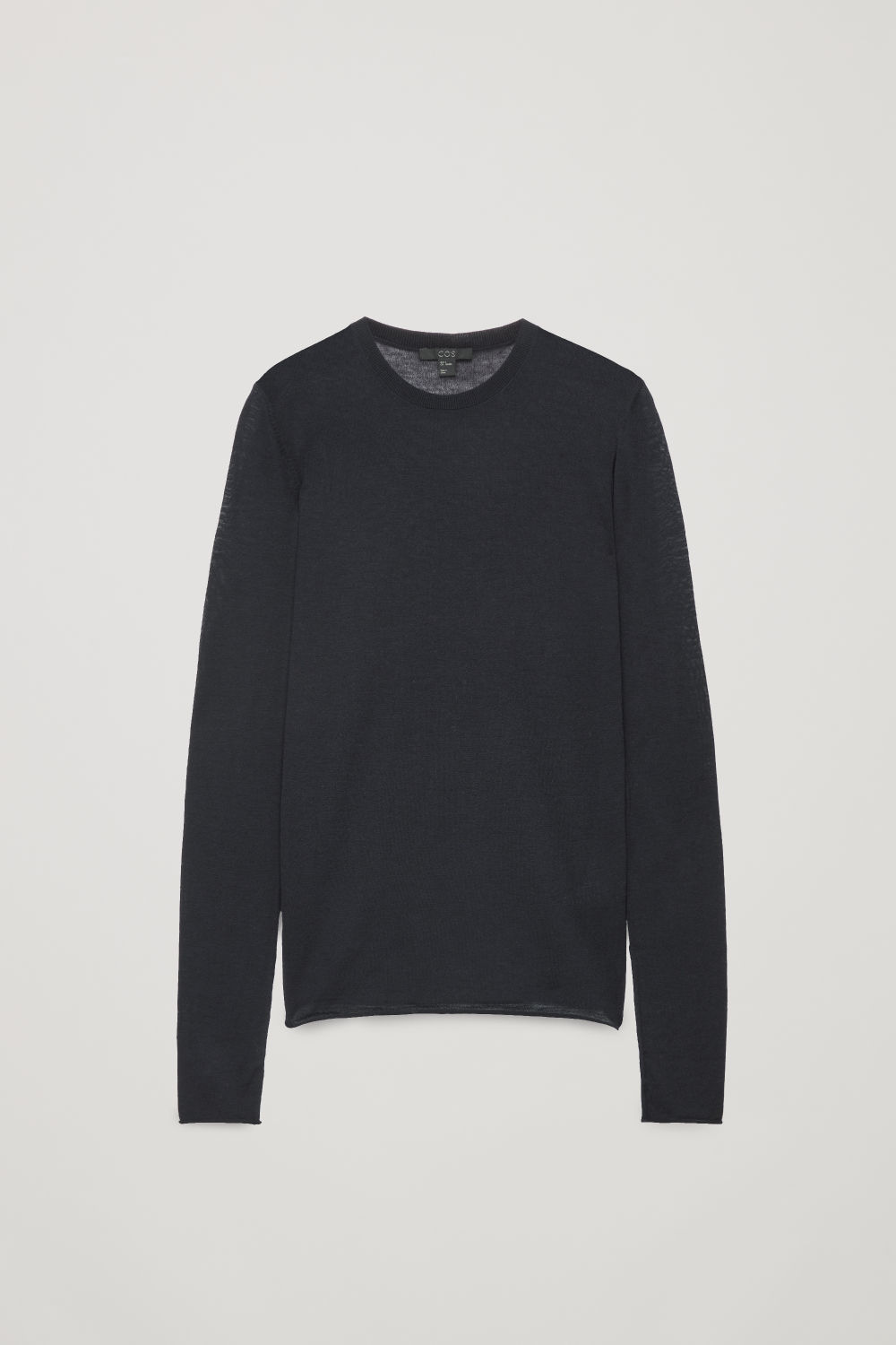 Front image of Cos merino round-neck jumper in blue