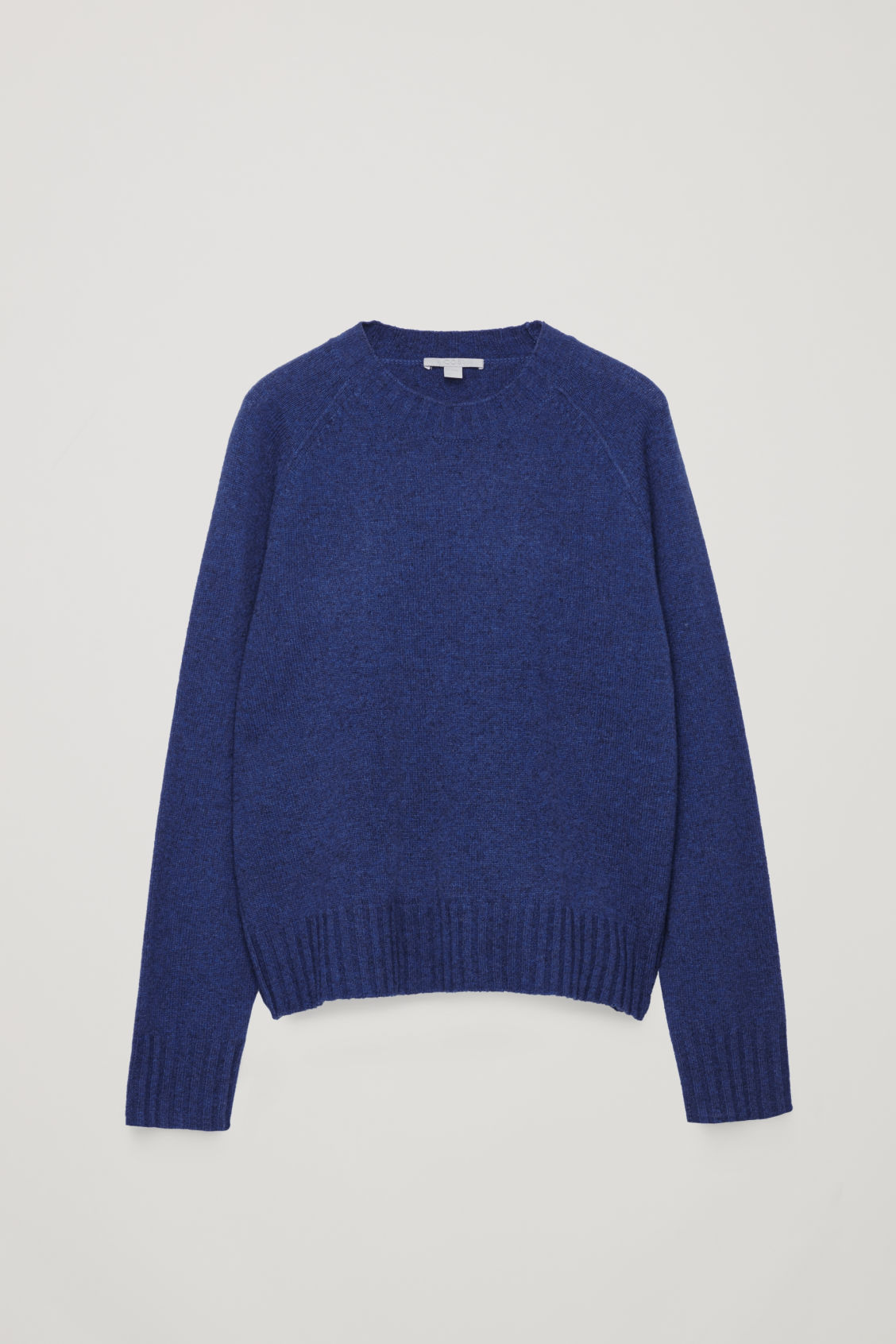 Front image of Cos wool-yak hair knit jumper in blue