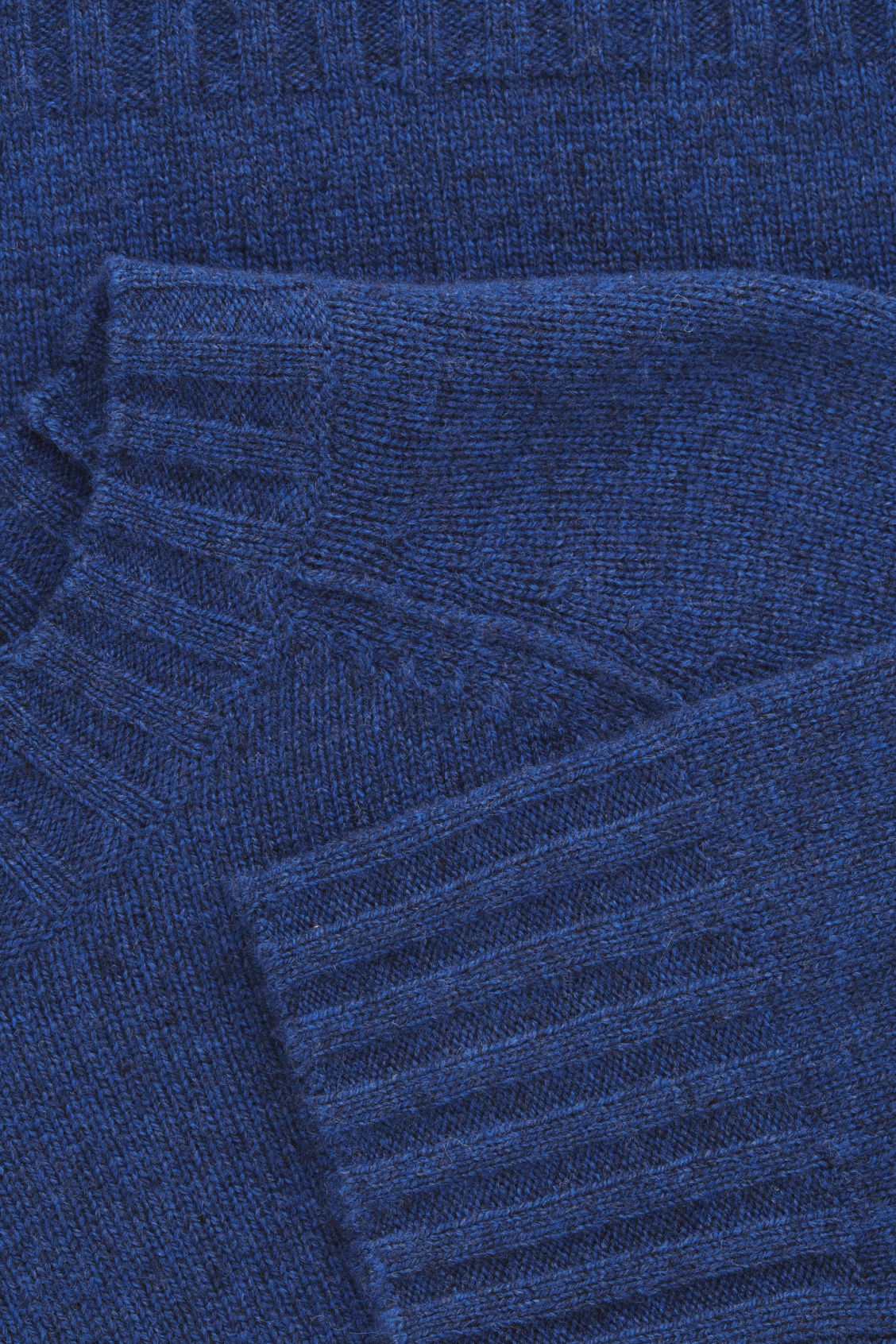 Side image of Cos wool-yak hair knit jumper in blue