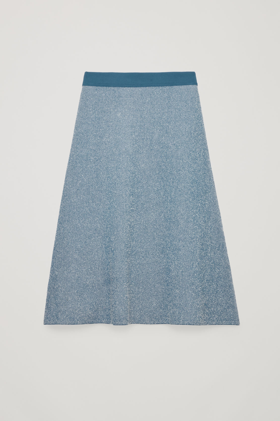 Front image of Cos drop-needle stitch knit skirt  in blue