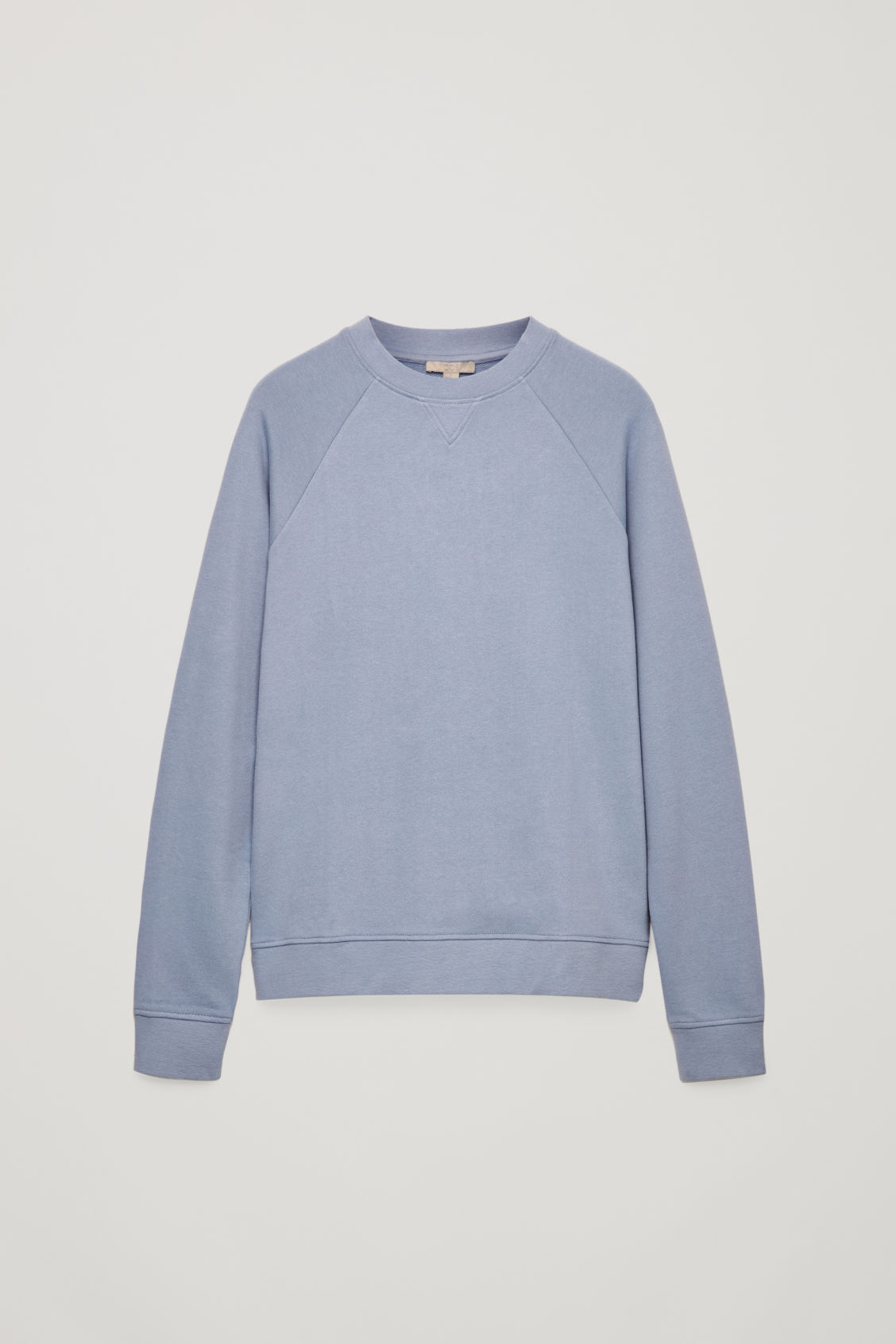 Front image of Cos relaxed jersey sweatshirt in blue