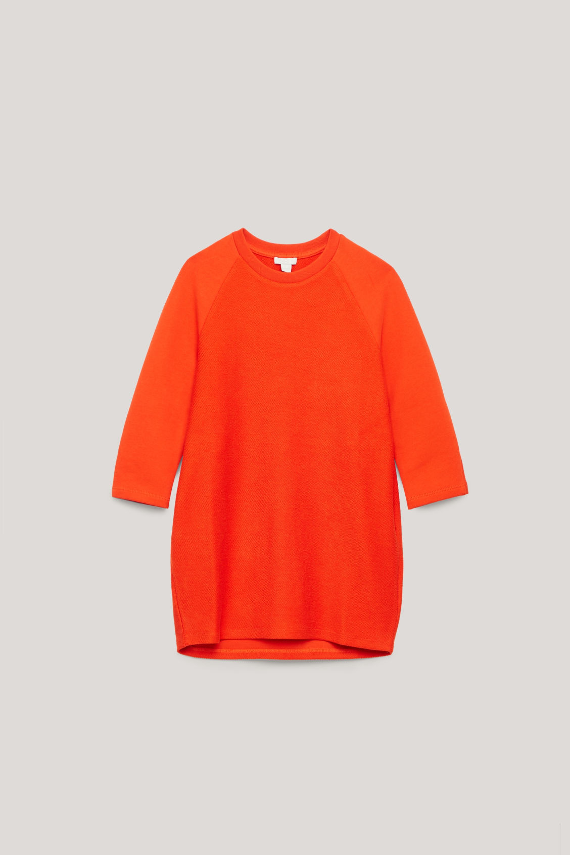 Front image of Cos rounded-sleeve jersey dress in orange