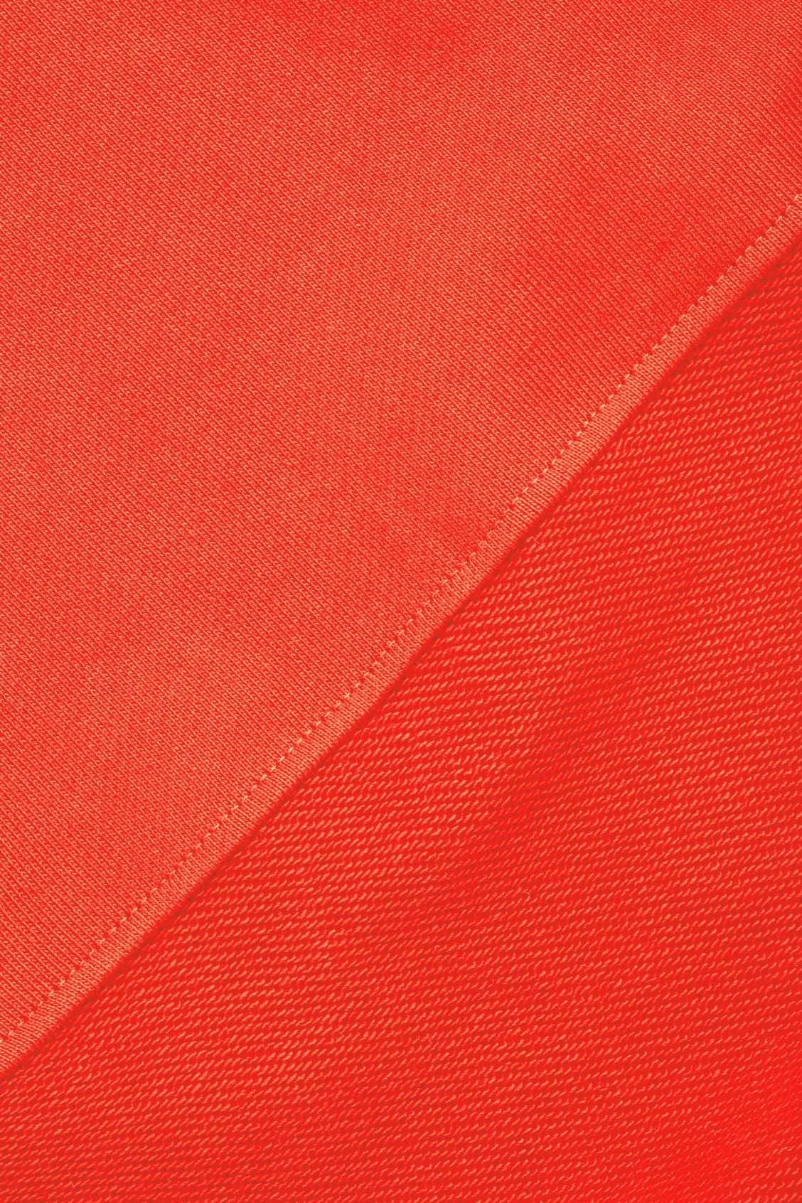 Side image of Cos rounded-sleeve jersey dress in orange